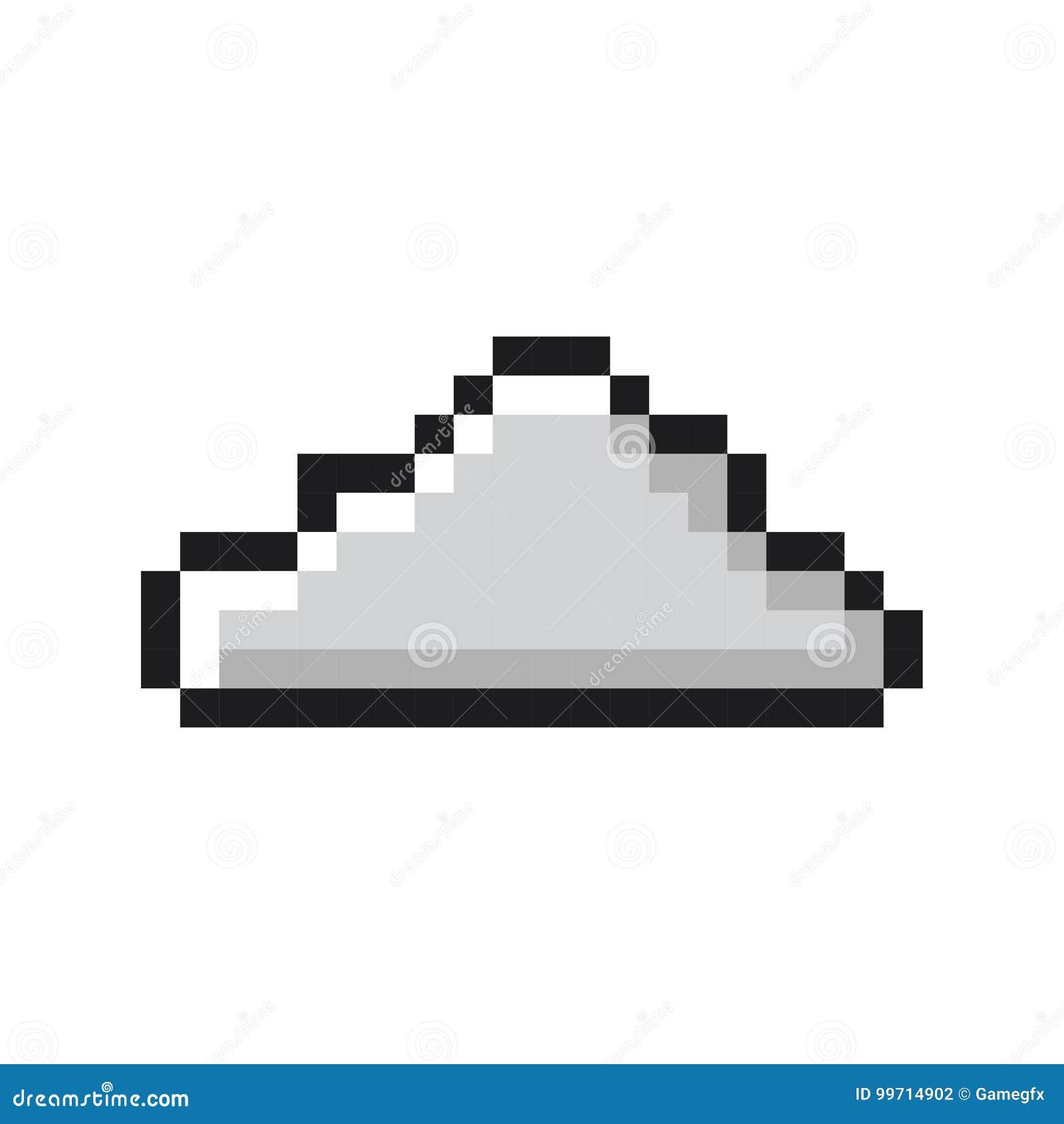 Obłocznej piksel sztuki kreskówki gry retro styl