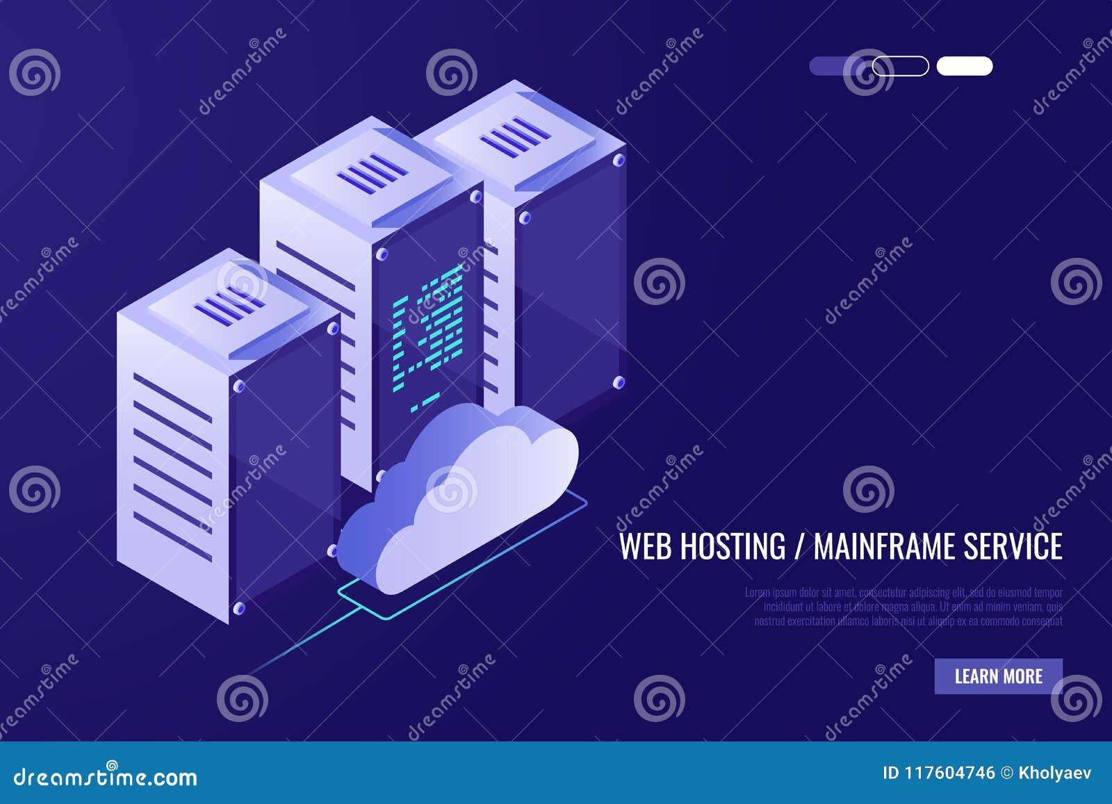Obłoczny dane centrum z gościć serwerów Informatyka, sieć i baza danych, interneta centrum Serwerów stojaki z