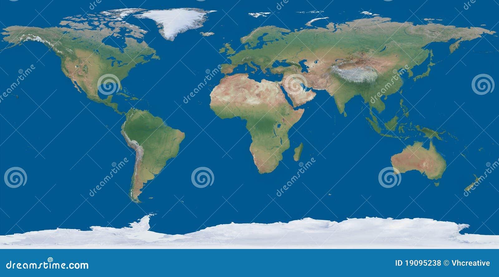 Oba hemisfer mapy jeden szkotowy świat