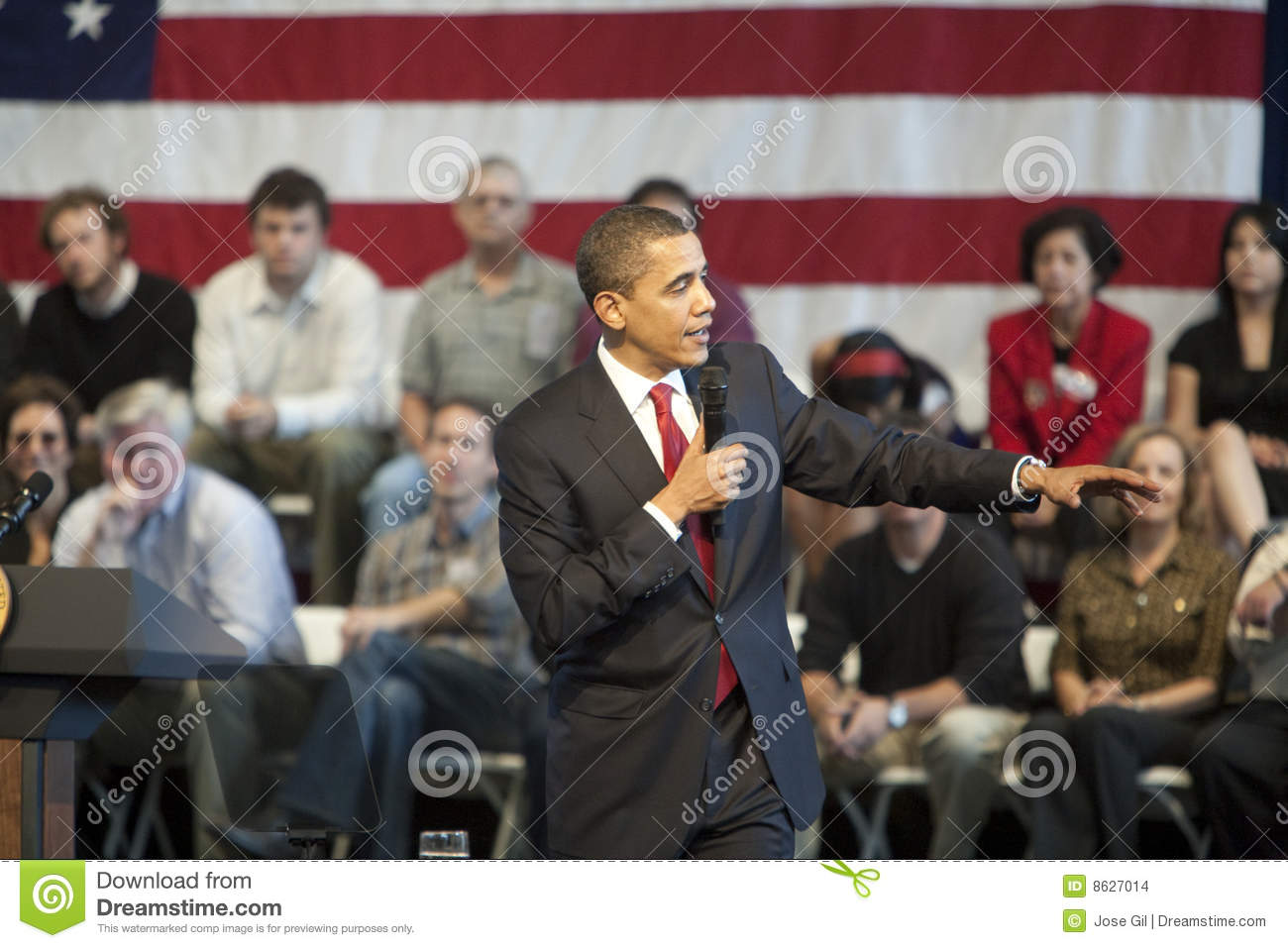 Obama Town Hall editorial stock image  Image of speech - 8627014