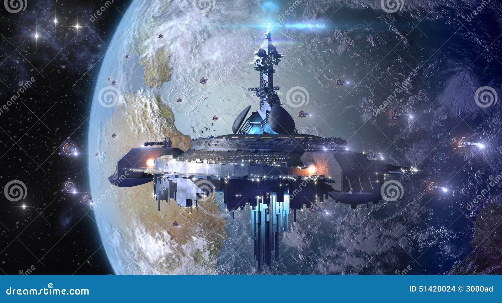 Obcego UFO blisko Uziemia