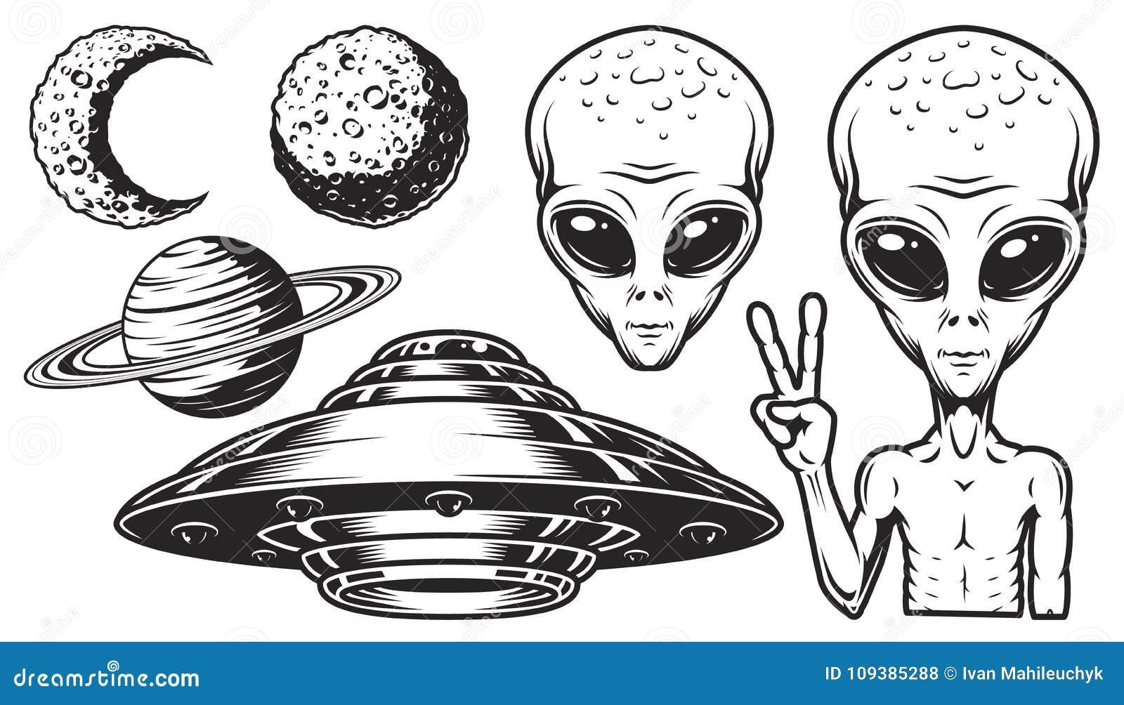 Obcy i ufo set