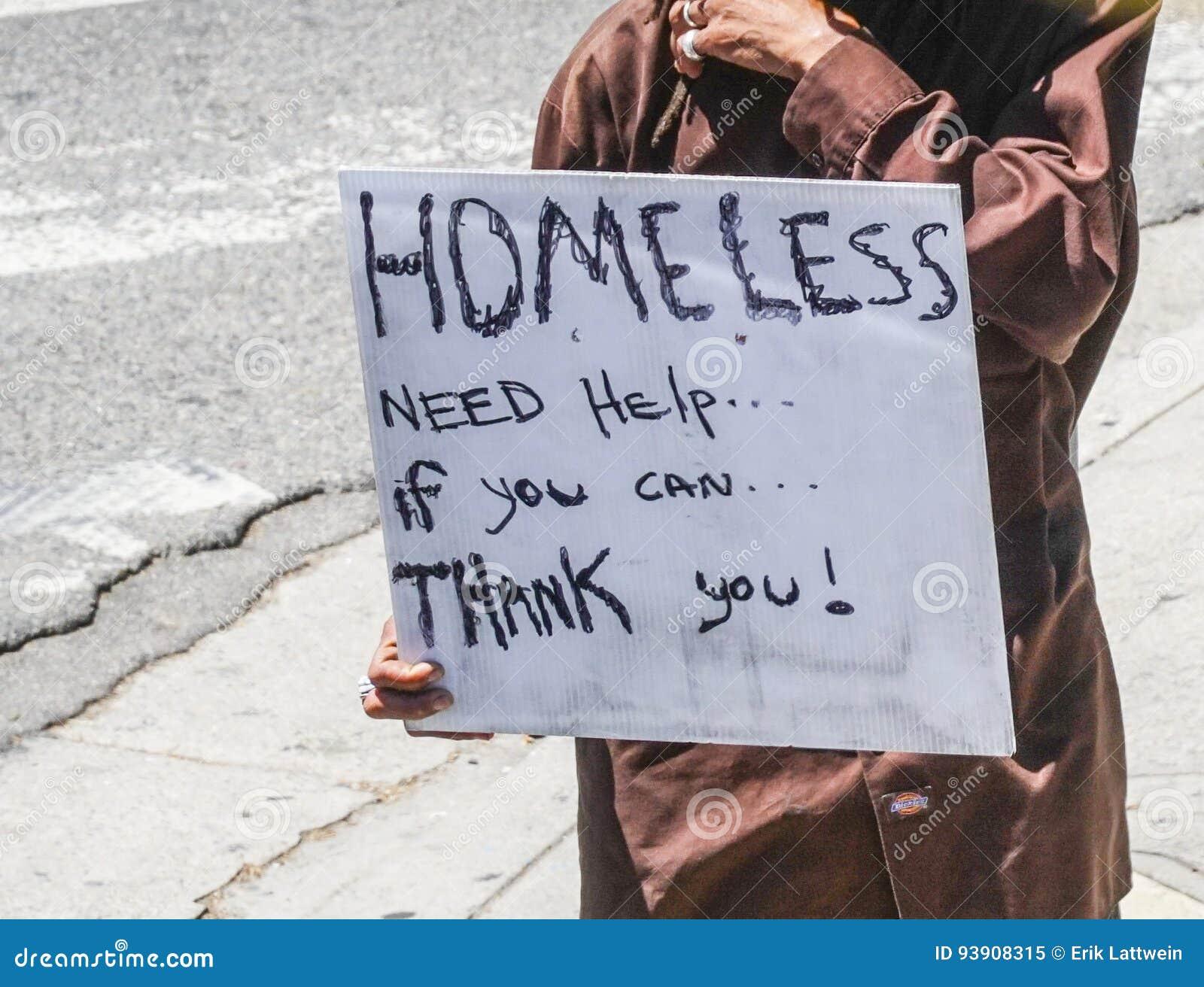 Obdachloser in Los Angeles - LOS ANGELES - KALIFORNIEN - 20. April 2017