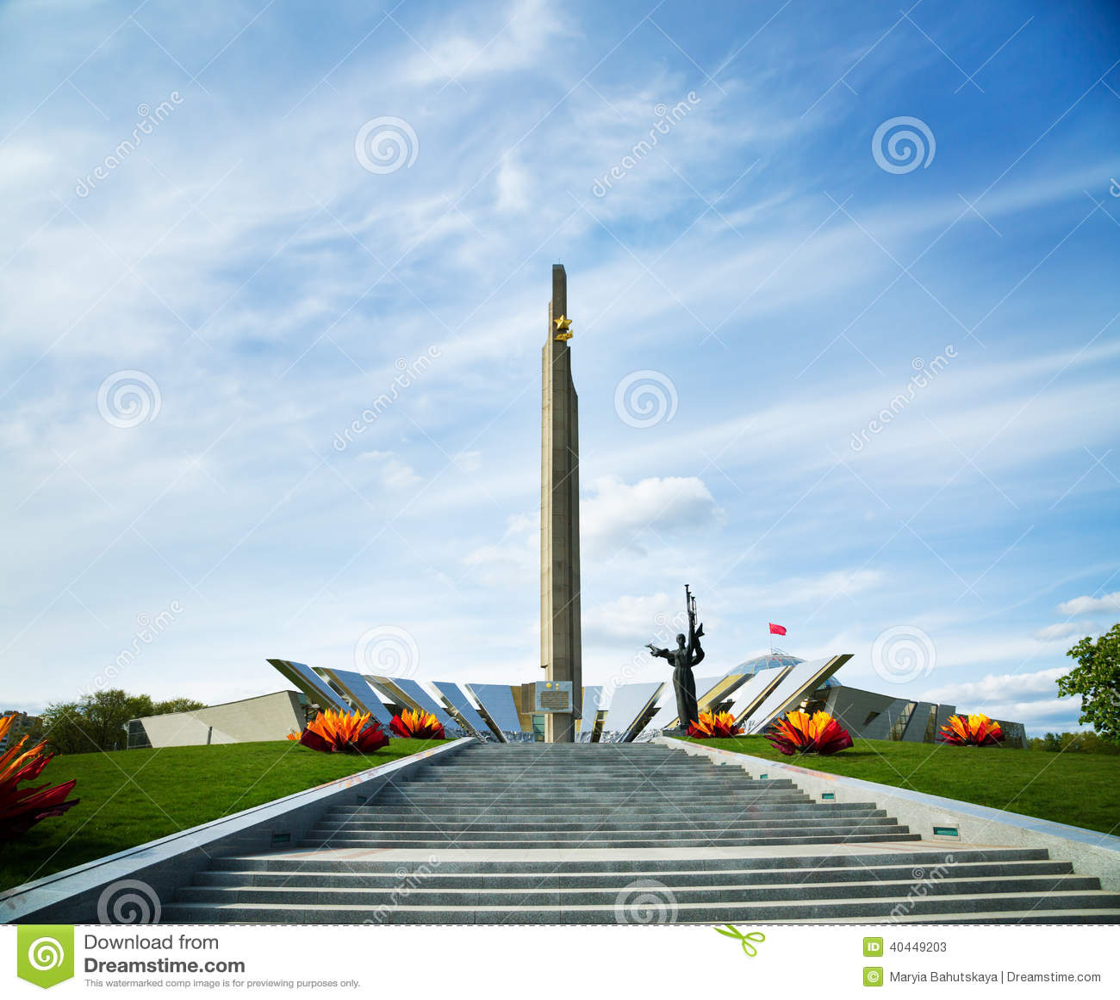 Download Obelisk Hero City Minsk In Belarus Stock Image - Image of star, stairway: 40449203