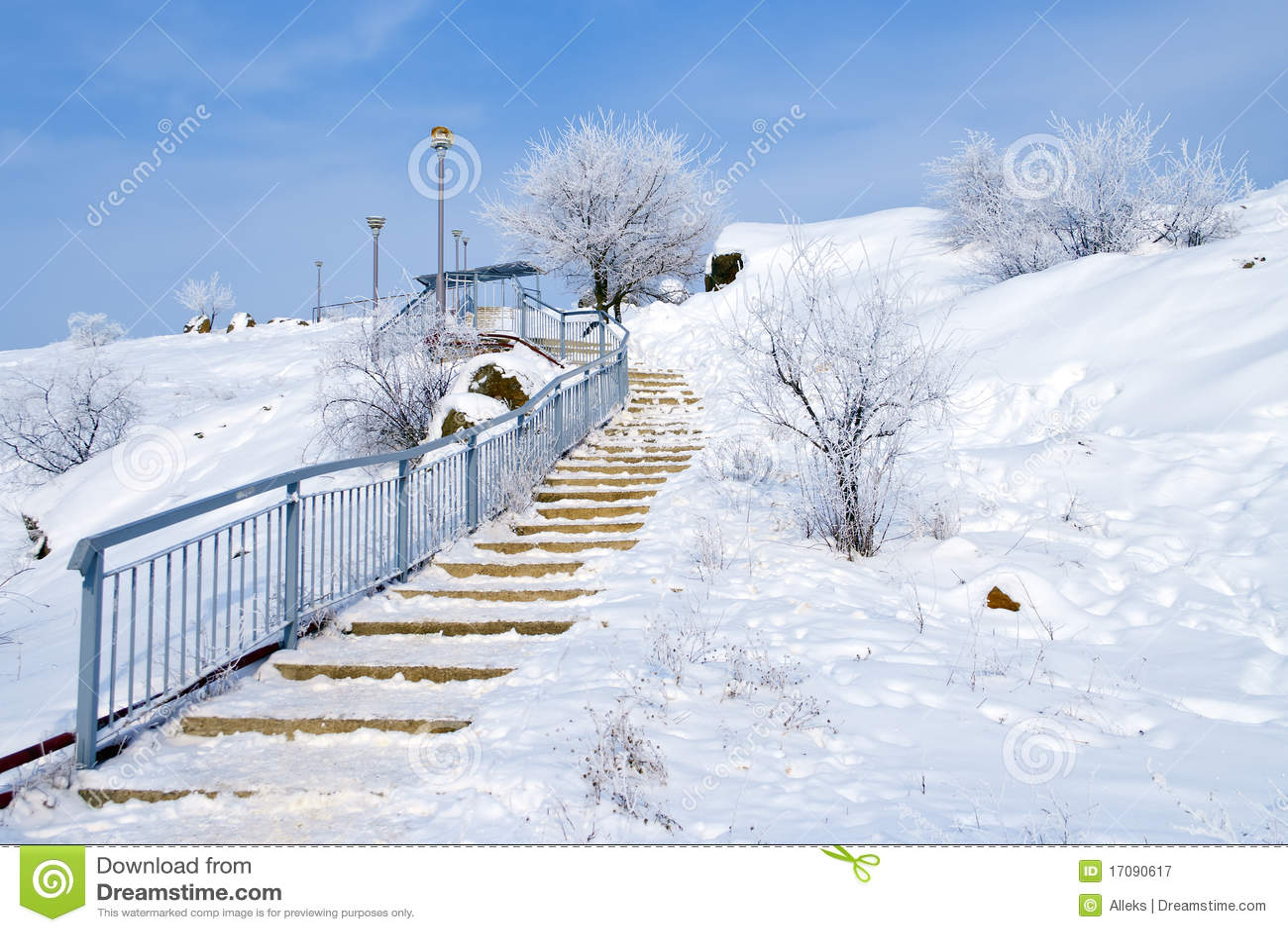 Oben im Winter