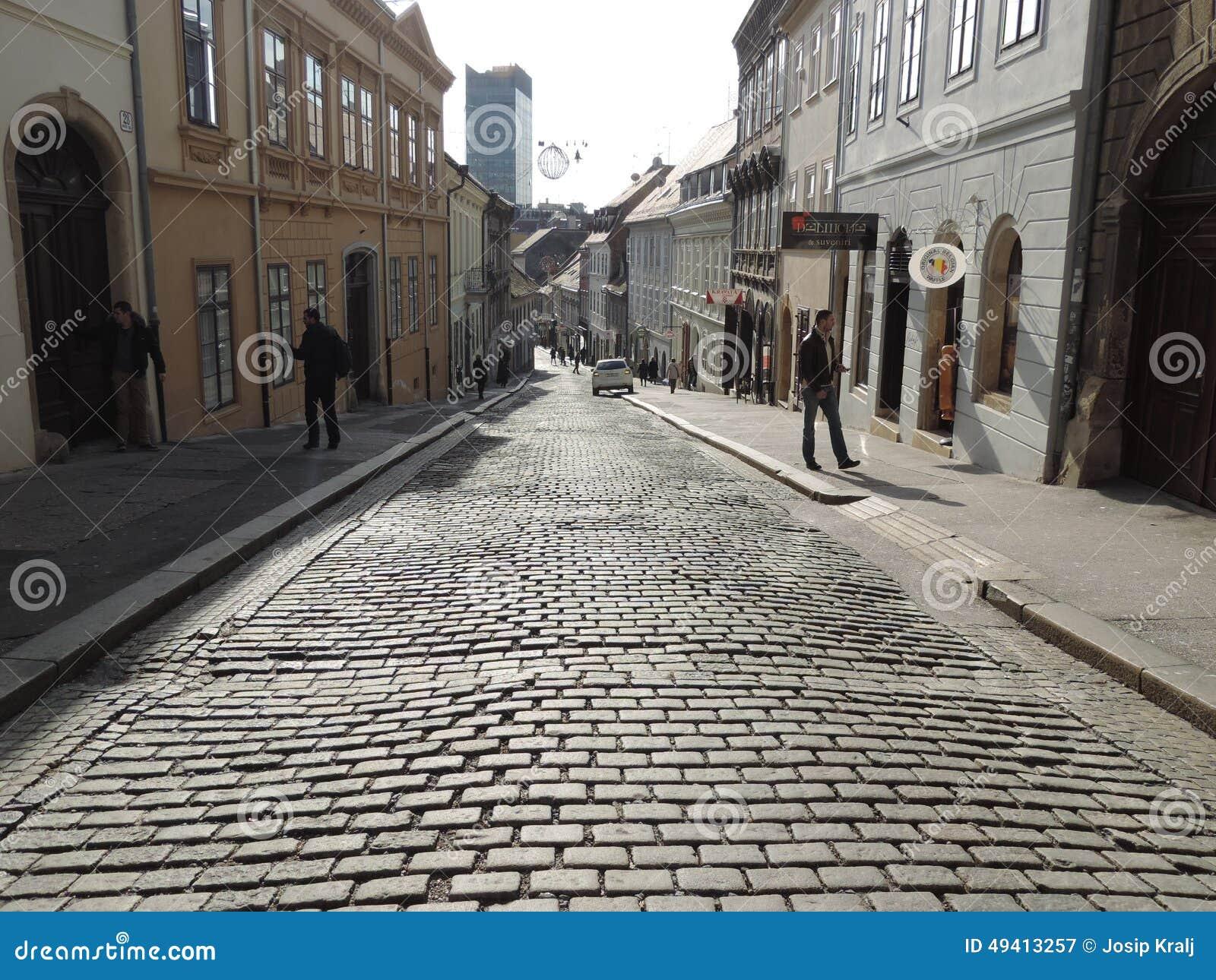 Download Obere Stadt von Zagreb redaktionelles stockfotografie. Bild von weiß - 49413257