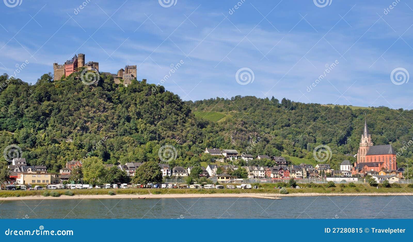 Download Oberwesel Rhine Flod, Tyskland Fotografering för Bildbyråer - Bild av turism, turister: 27280815