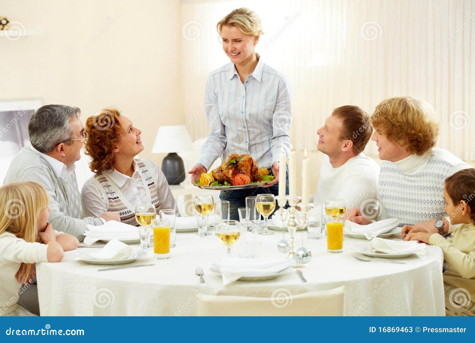Obiadowy dziękczynienie