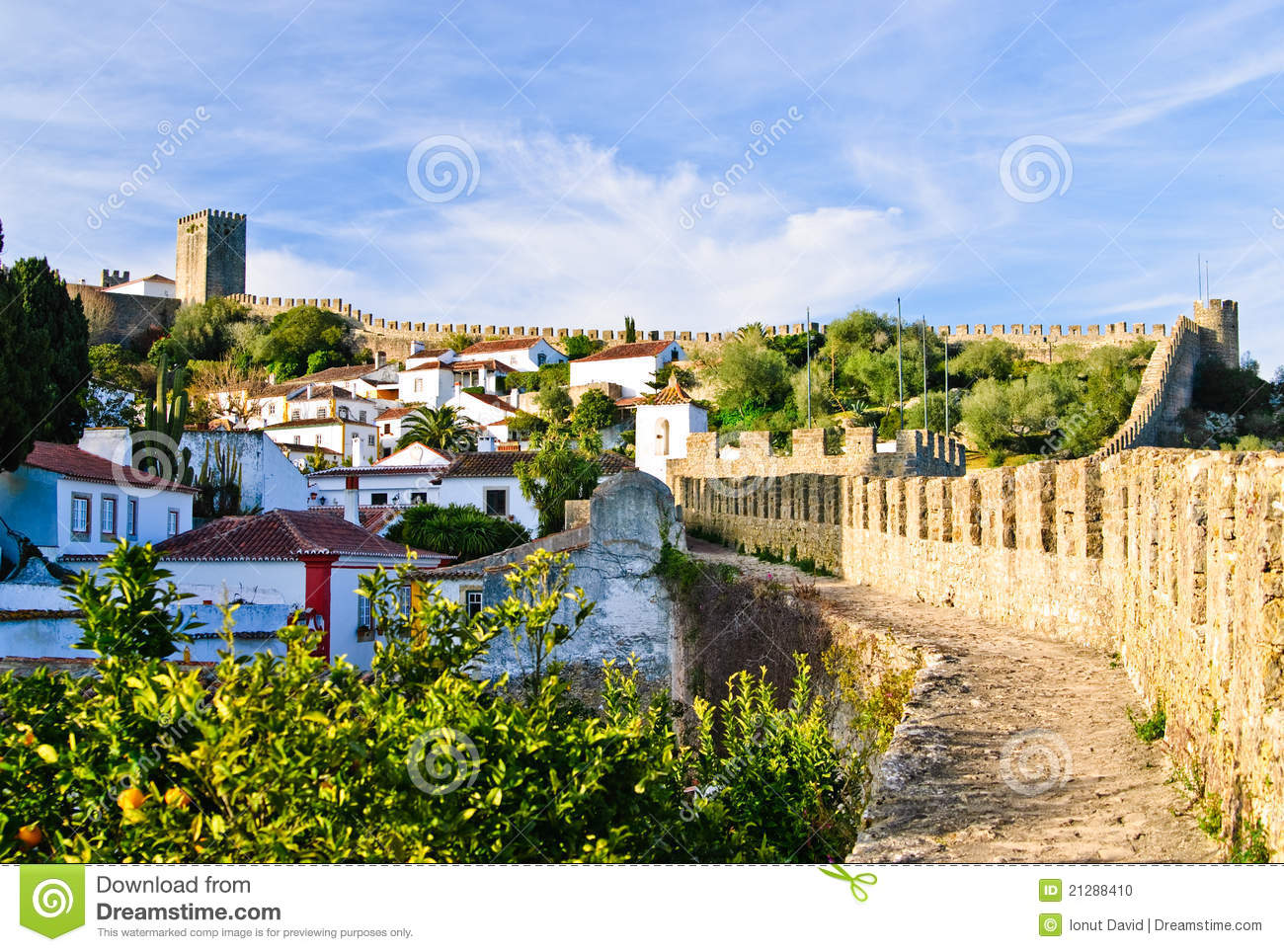 Obidos Medieval Town Portugal Stock Photo Image 21288410