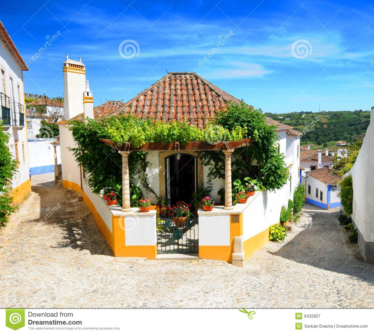 Obidos Village Portugal Stock Image Image Of Outdoors