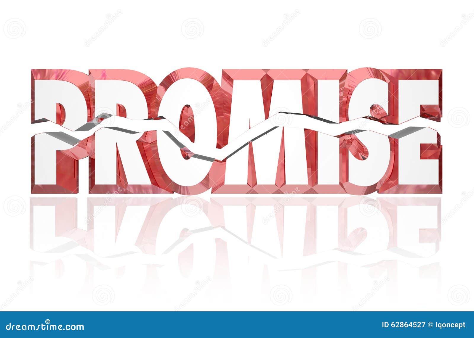 Obietnica Łamający Pękający 3d Czerwony słowo