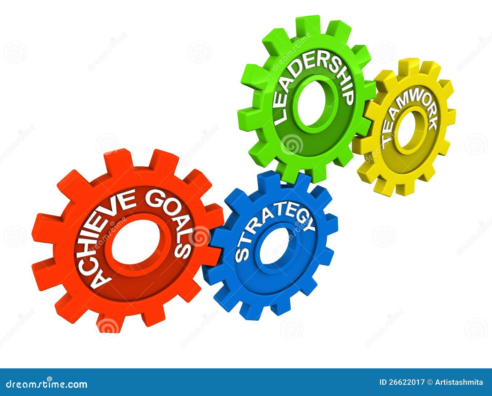 Obiettivi di direzione di lavoro di squadra illustrazione for Programmi 3d free