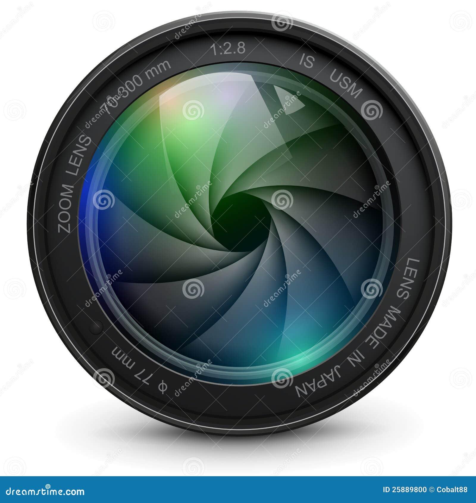 obiettivo di macchina fotografica illustrazione vettoriale