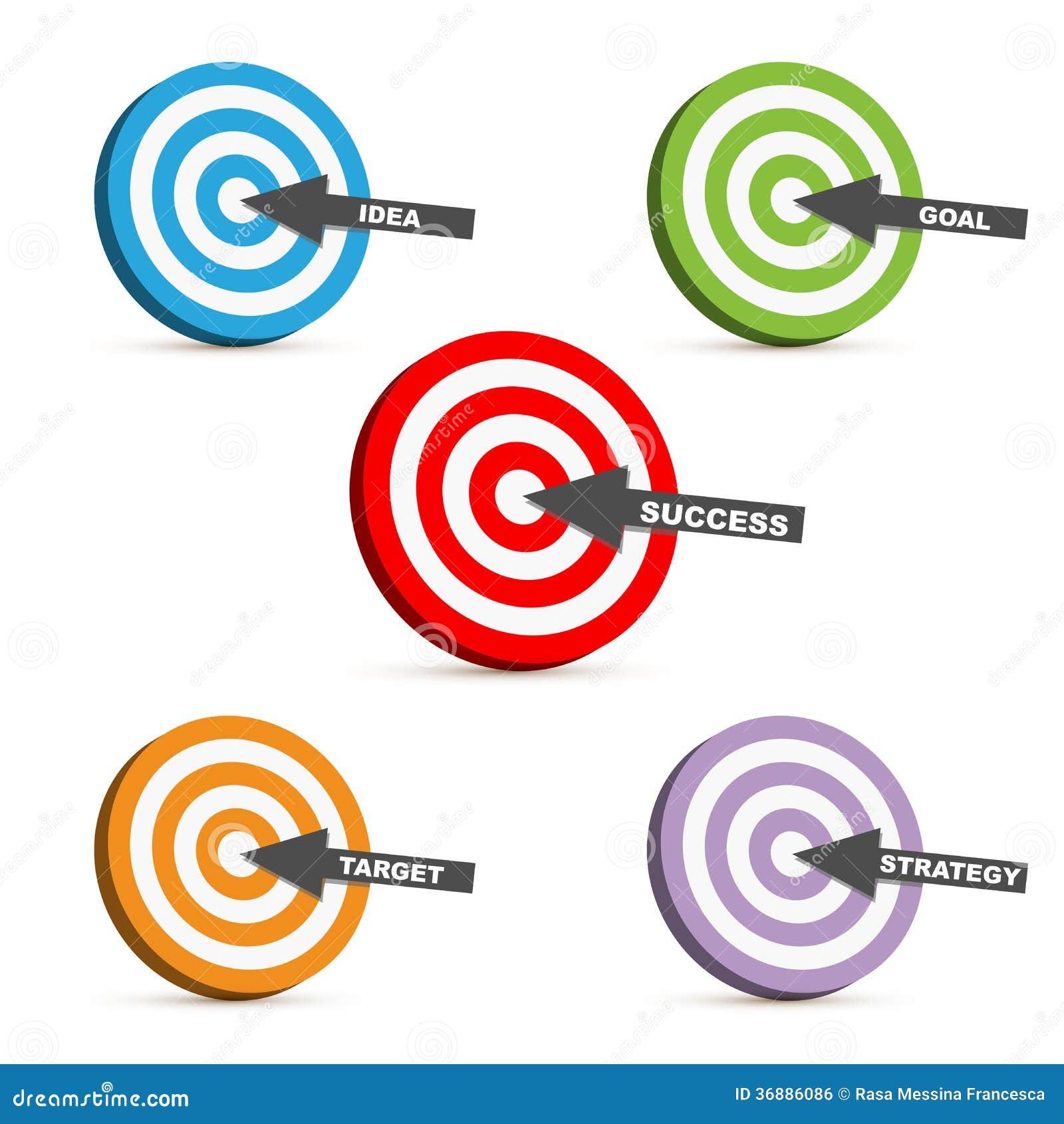 Download Obiettivo di successo illustrazione vettoriale. Illustrazione di vendita - 36886086