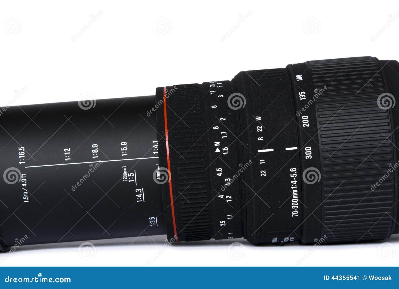 Obiettivo di telephoto nero