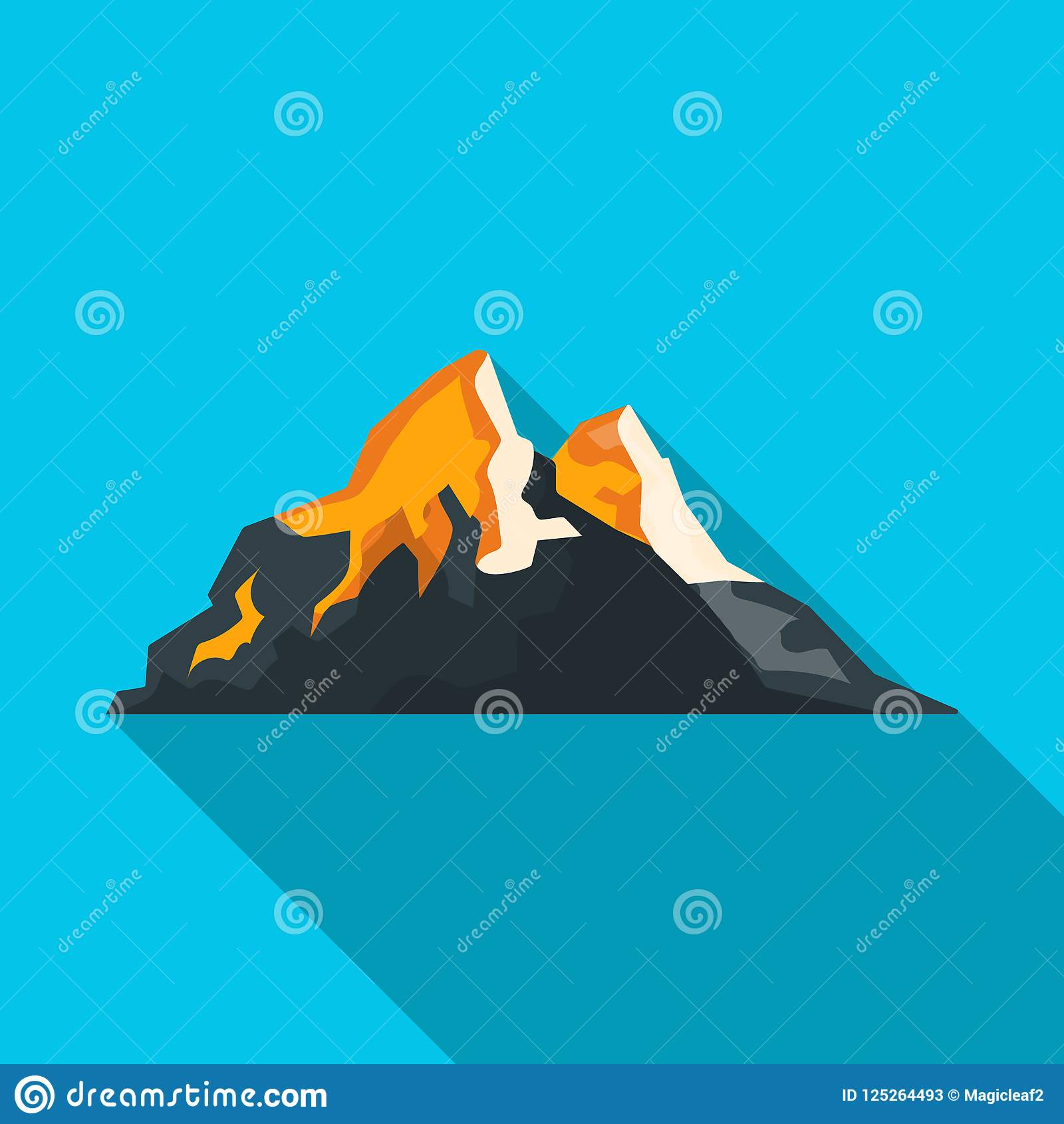 Object Of Alpinism And Peak Logo Set Of Alpinism And Camp Stock