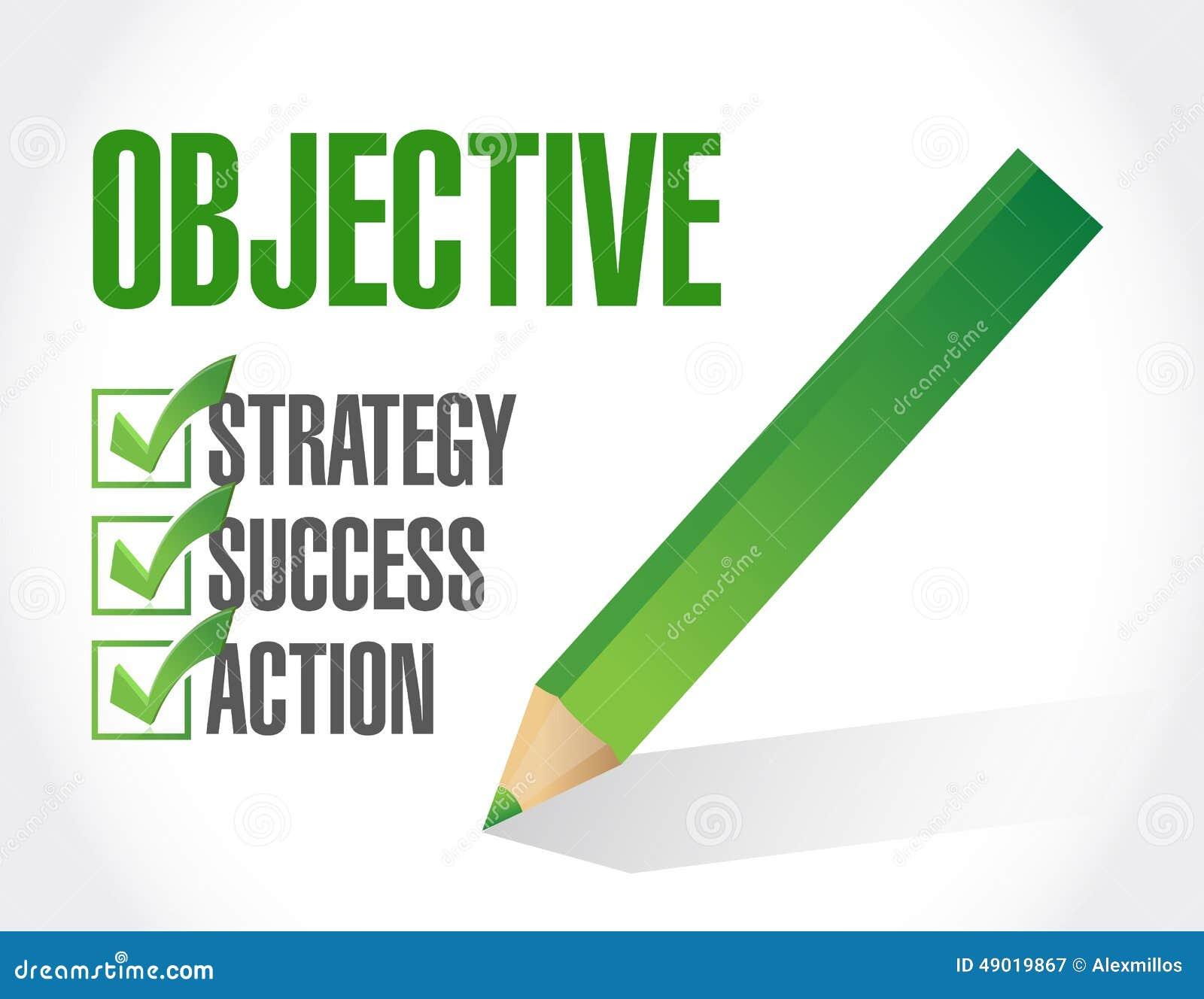 objective check list illustration design stock