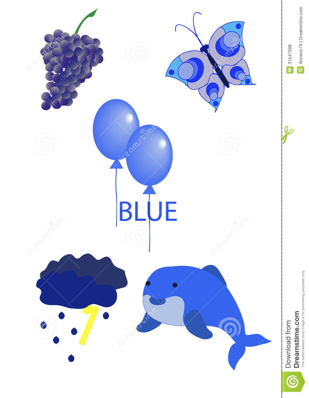 blue objects clipart - photo #36