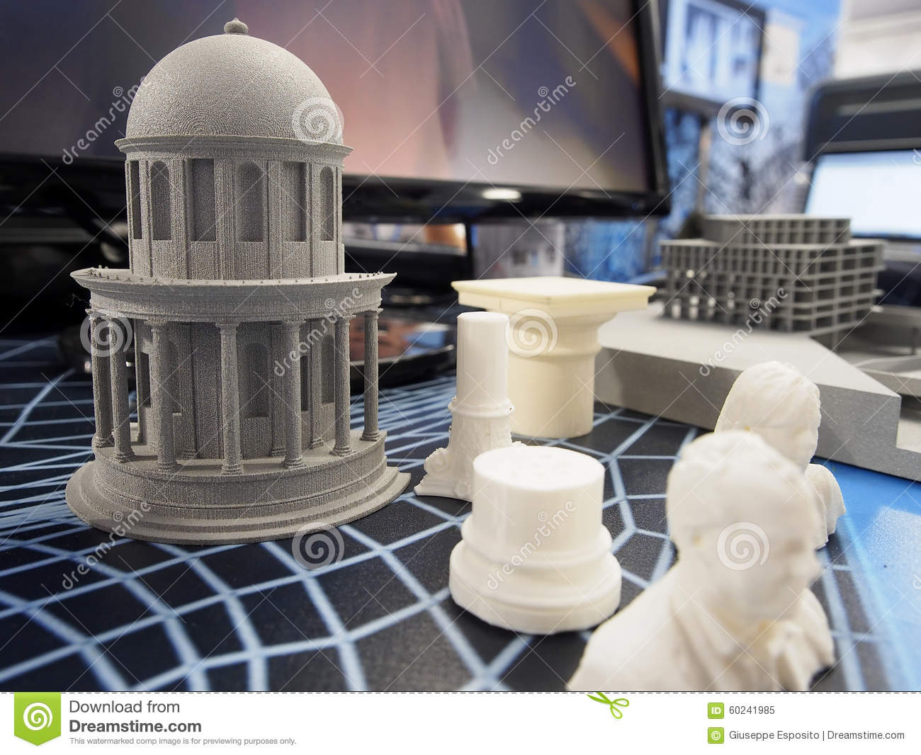 Objects from a 3d printer stock image image of tech for When was 3d printing invented