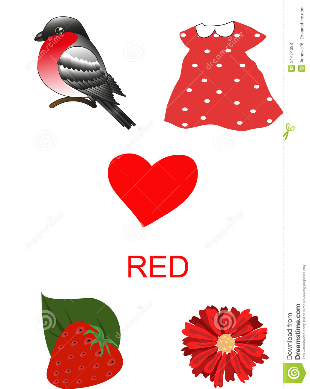 Objects of red color royalty free stock photos image - Dreaming about the color red ...