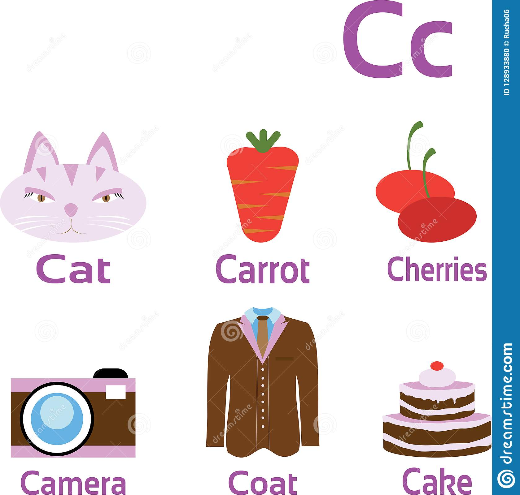 objects and things starting with letter c