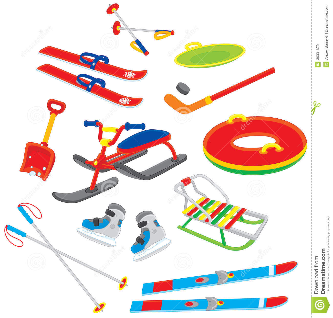 objects for winter leisure royalty free stock images image 36331679 dog sled clip art dog sled clip art