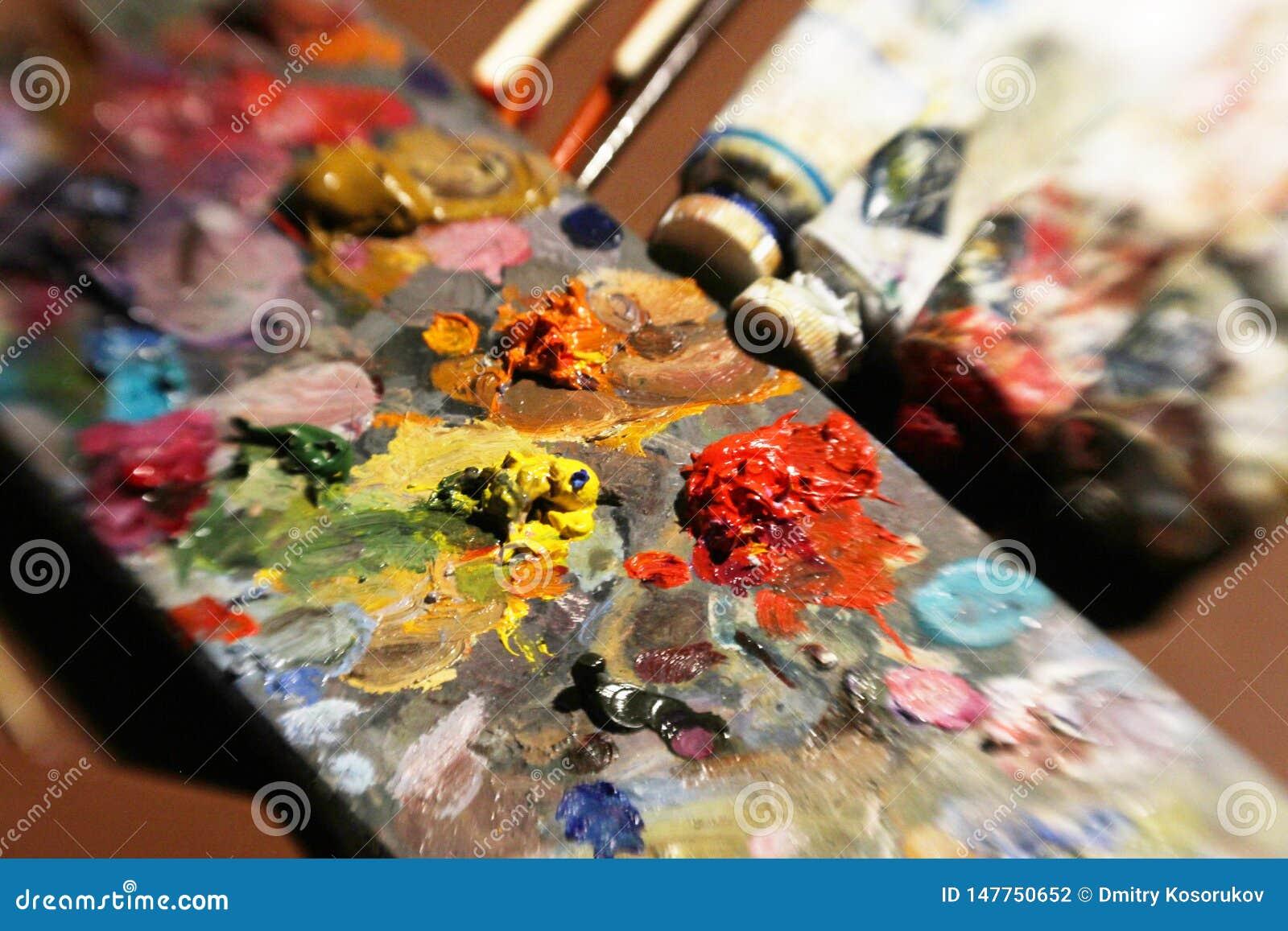 Objekt som ska målas med oljamålarfärger
