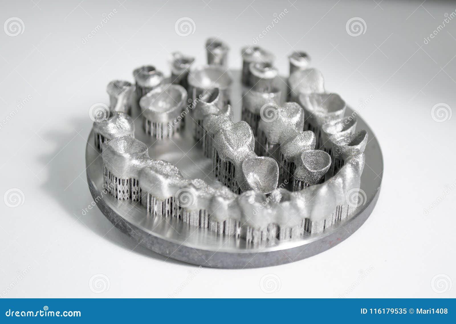 Objekt som skrivs ut på skrivaren för metall 3d