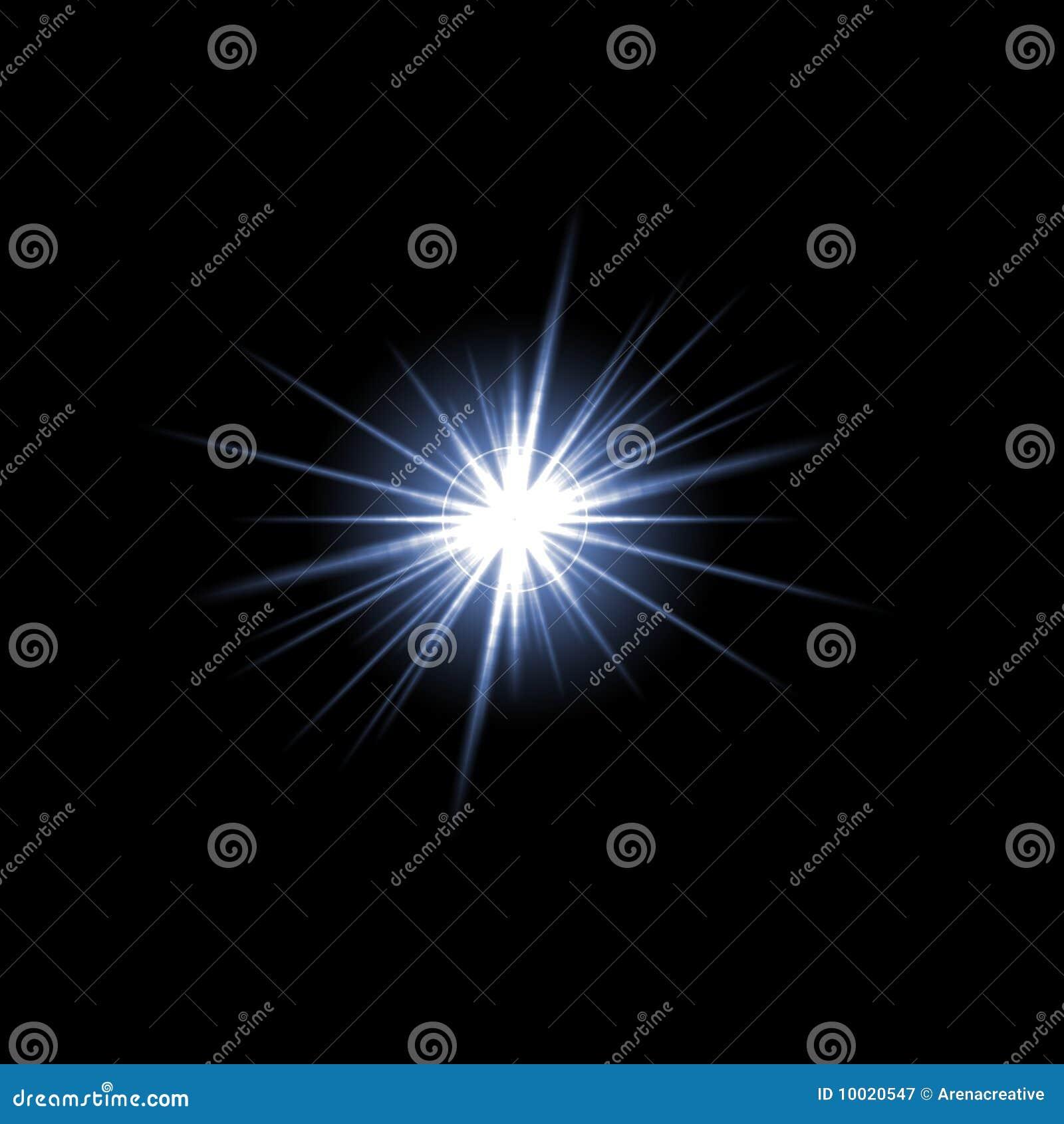 Objektiv-Aufflackern-Stern-Impuls