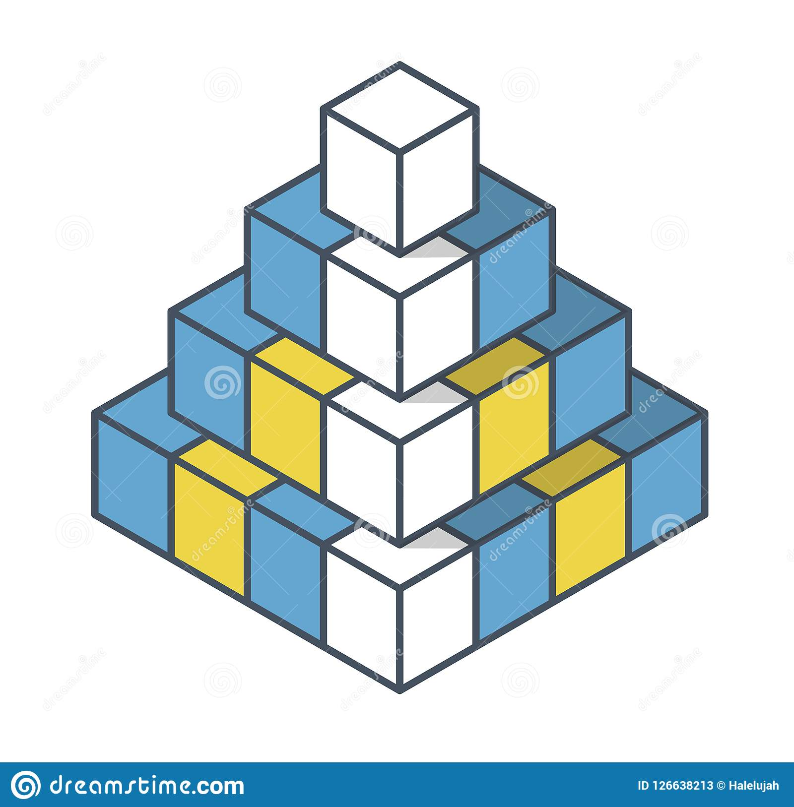 Objet Decrit Dans La Forme De La Pyramide Forme Abstraite De Vecteur De Cube Illustration De Vecteur Illustration Du Abstraite Pyramide 126638213