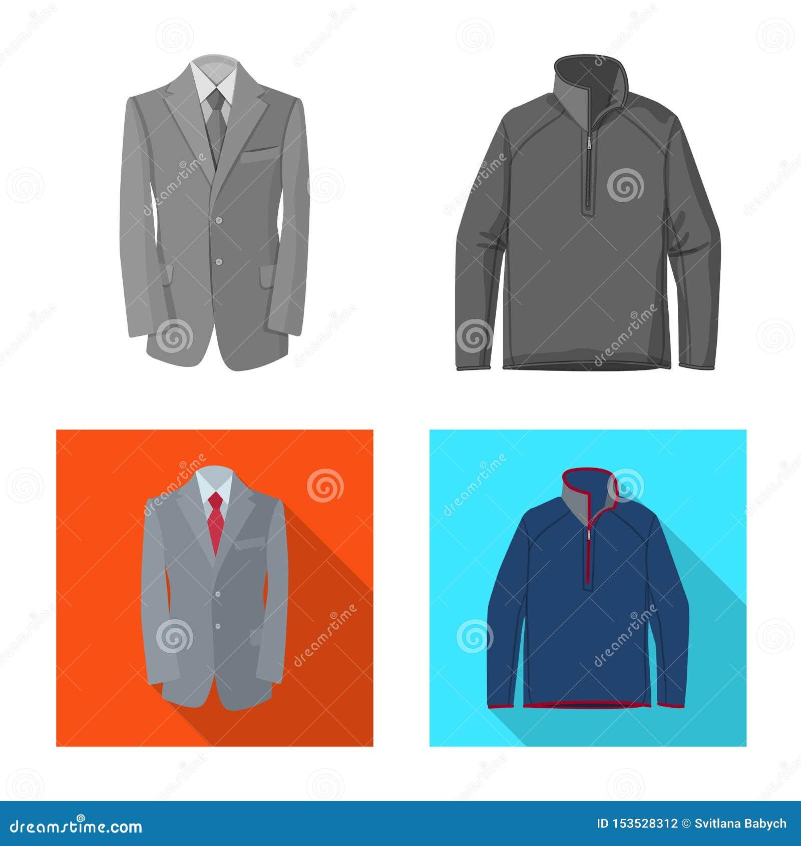 Objet d isolement de logo de l homme et d habillement Ensemble de l homme et de symbole boursier d usage pour le Web