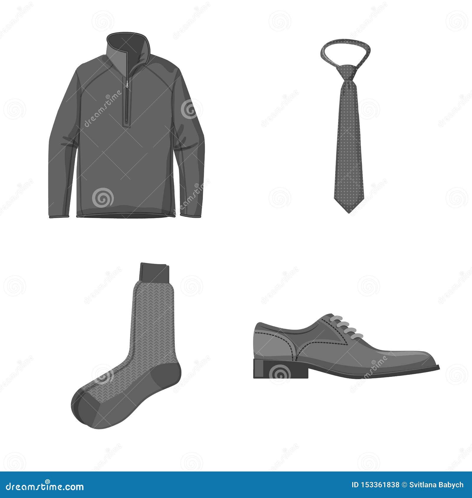Objet d isolement de symbole de l homme et d habillement Collection de l homme et de symbole boursier d usage pour le Web