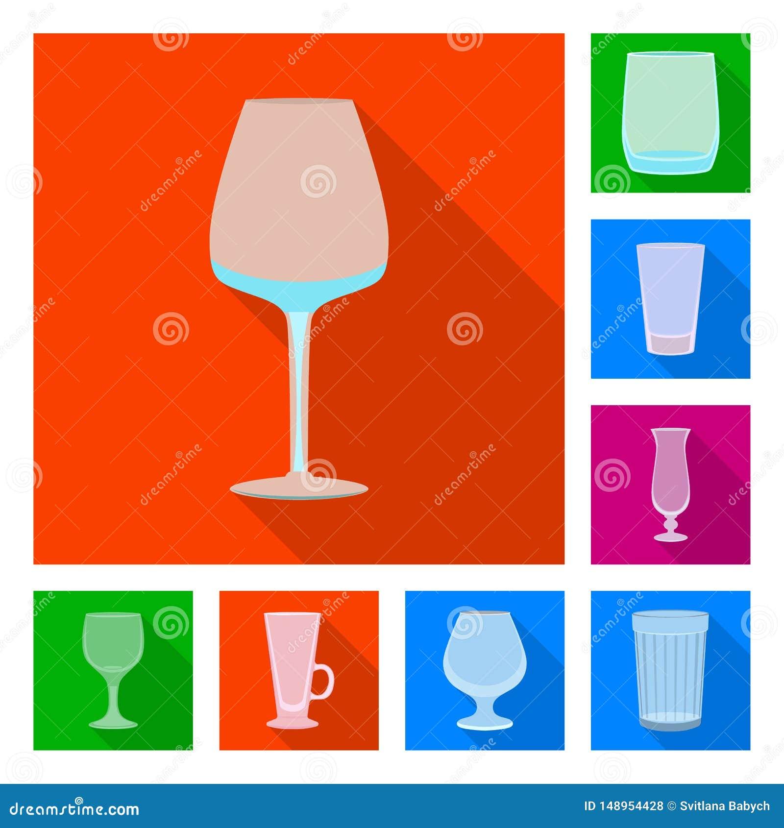Objet d isolement des boissons et du symbole de restaurant Placez des boissons et de l illustration de vecteur d actions de c?l?b