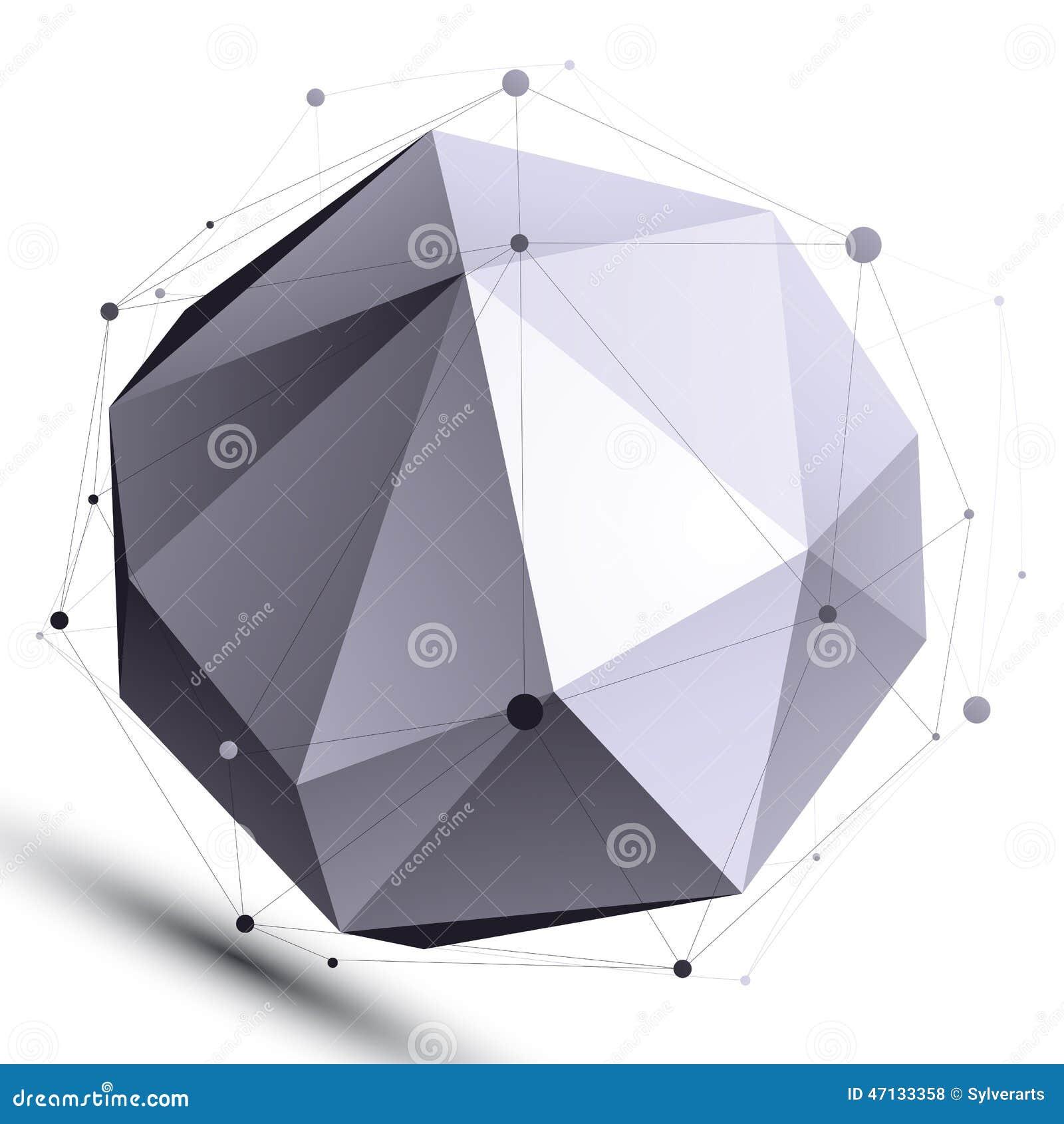 objet dans un r seau orbital de vecteur de la structure 3d. Black Bedroom Furniture Sets. Home Design Ideas