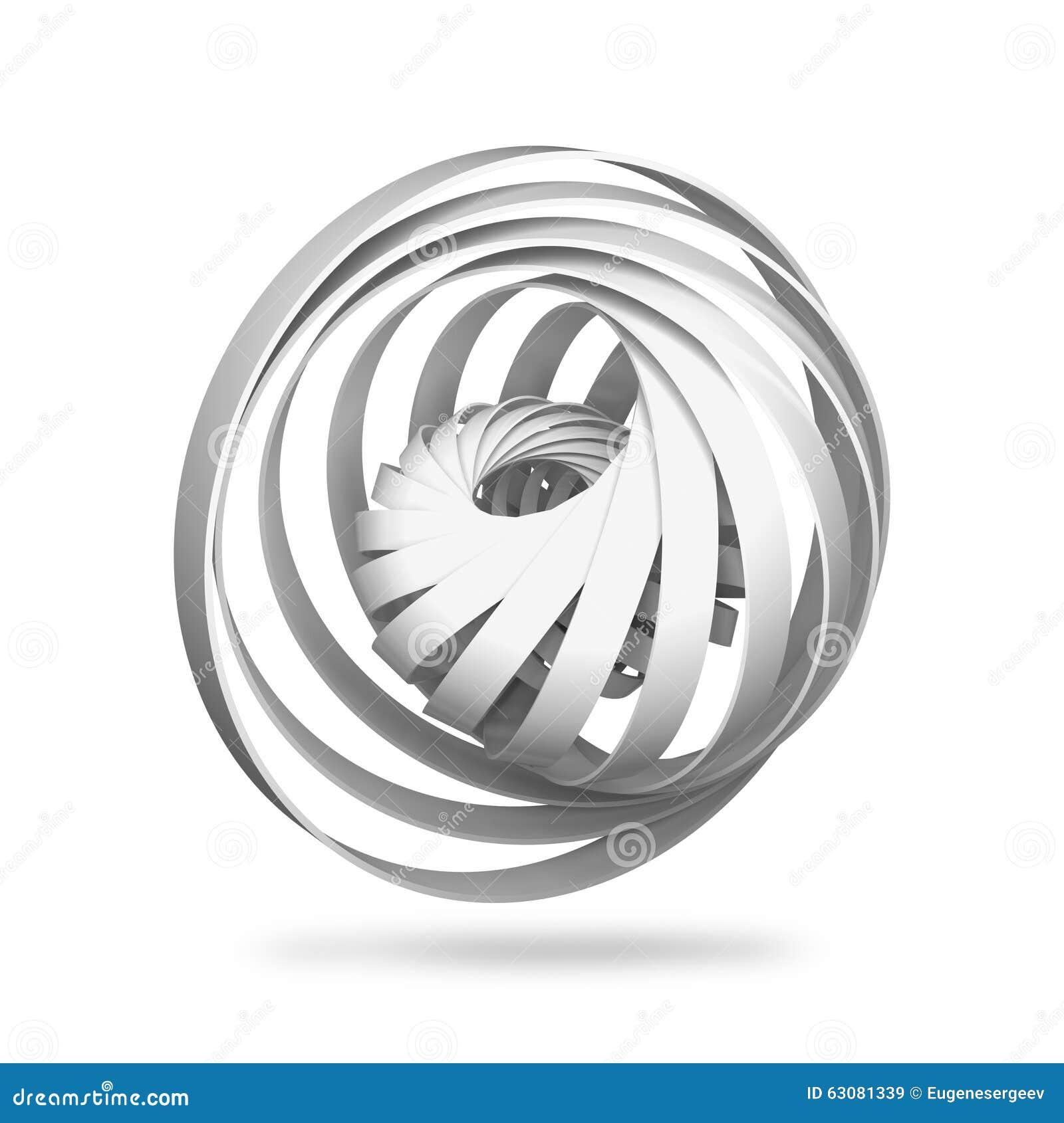 Download Objet Numérique Abstrait, Structures Rondes De La Spirale 3d Illustration Stock - Illustration du futuriste, conceptuel: 63081339