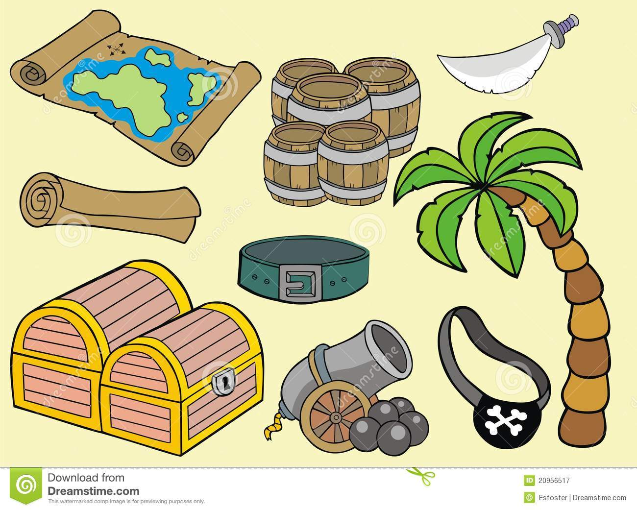Objet pirates royalty free stock photography image 20956517