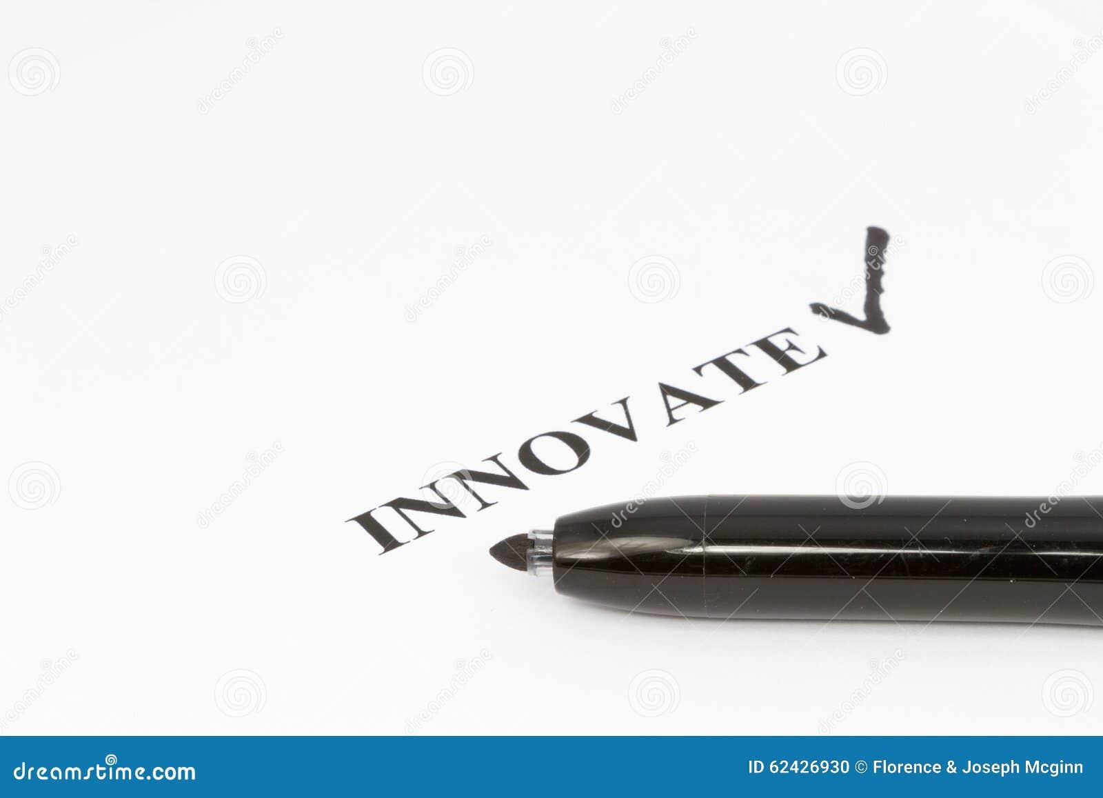Objetivo da inovação marcado pela pena