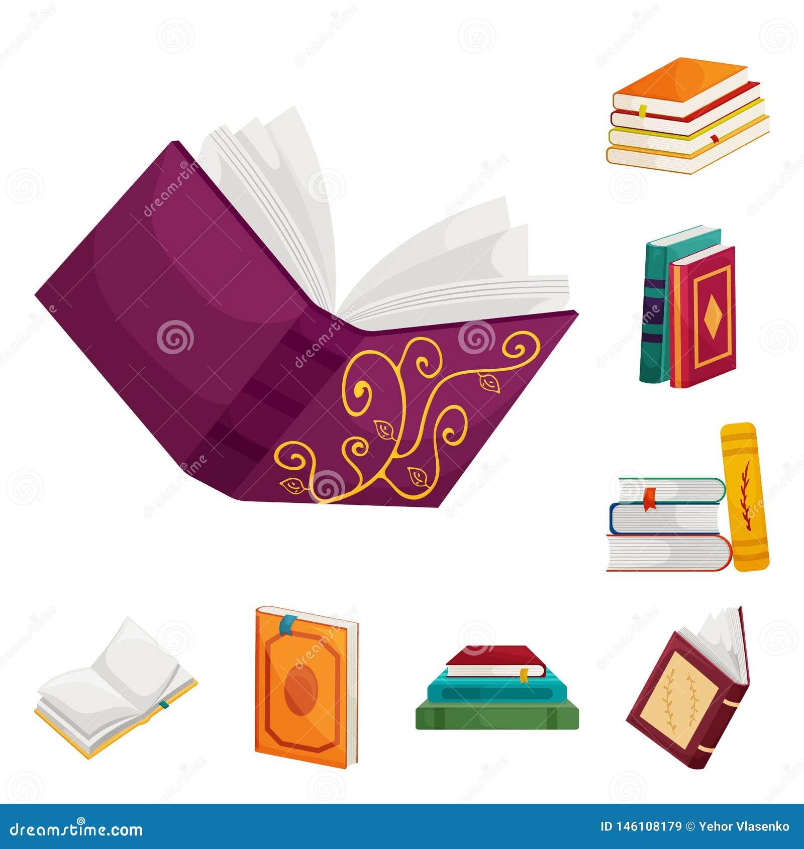 Objeto aislado de la muestra de la biblioteca y de la librer?a Fije del icono del vector de la biblioteca y de la literatura para