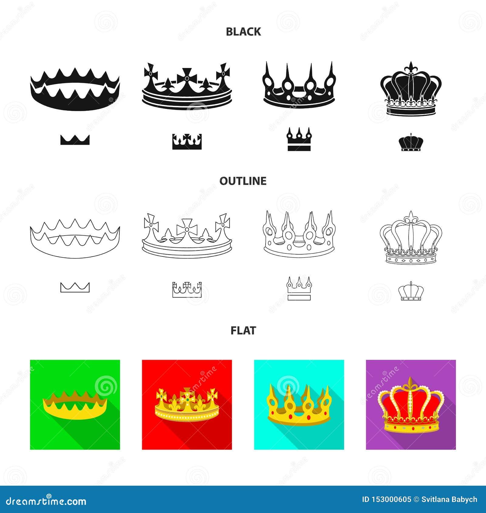 Objeto aislado de la muestra medieval y de la nobleza Colecci?n de ejemplo com?n medieval y de la monarqu?a del vector