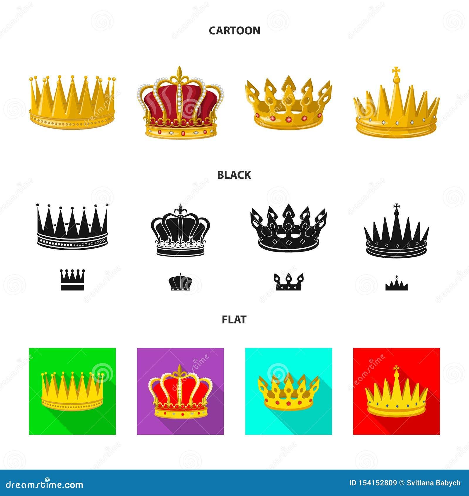 Objeto aislado del icono medieval y de la nobleza Fije del ejemplo com?n medieval y de la monarqu?a del vector