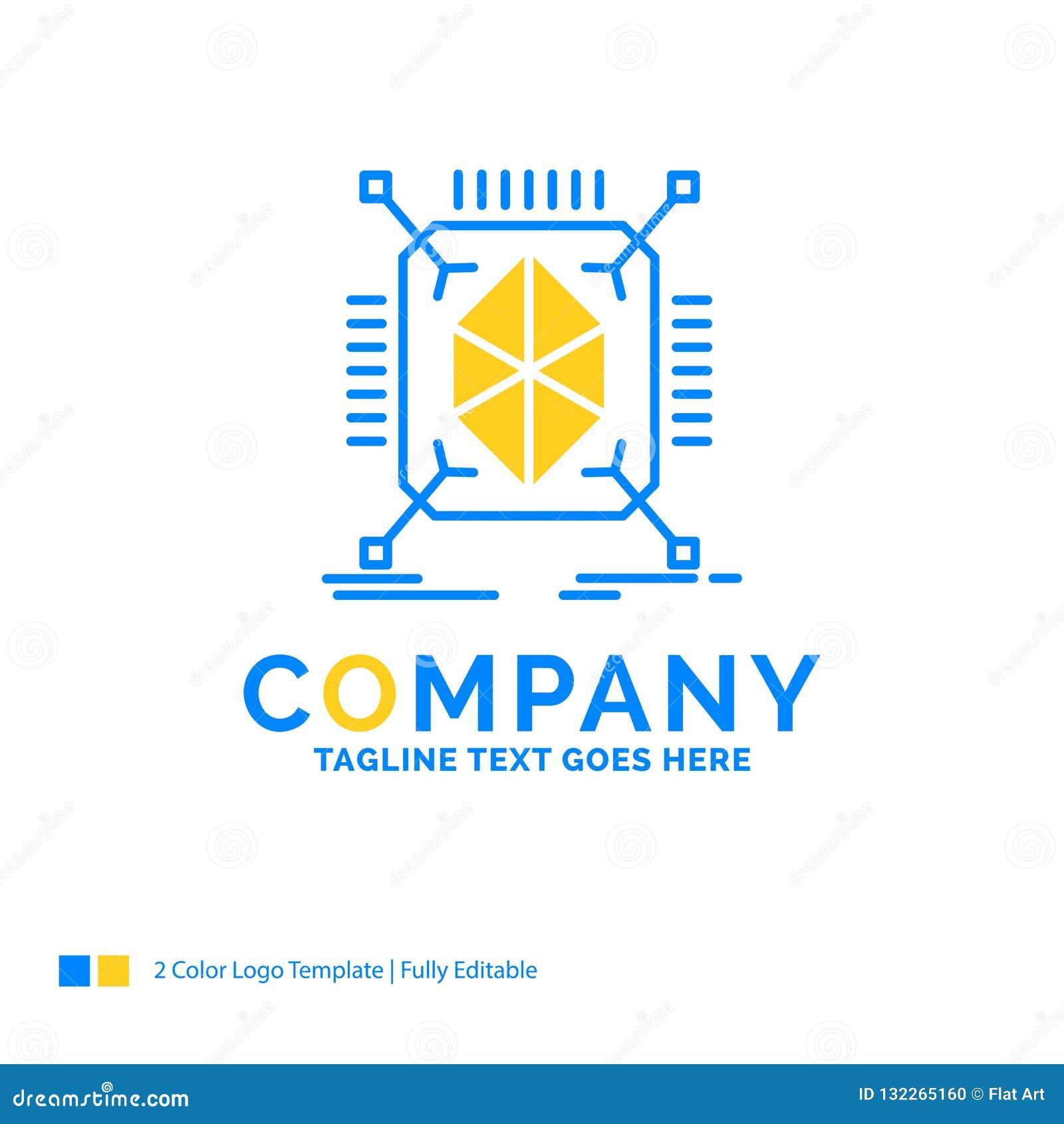 Objeto, creación de un prototipo, rápida, estructura, 3d negocio amarillo azul L