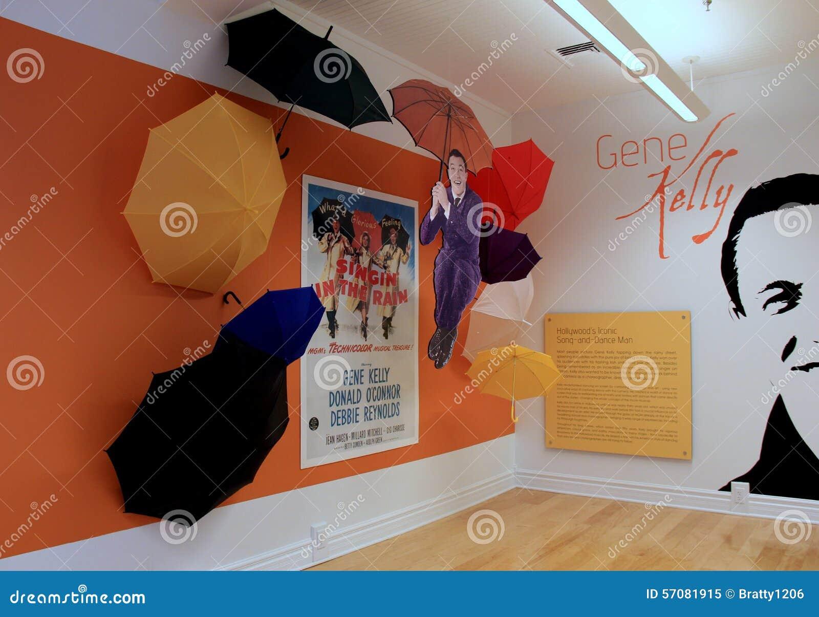 Objeto expuesto del baile grande, Gene Kelly, Museo Nacional de la danza y del salón de la fama, Saratoga Springs, Nueva York, 20