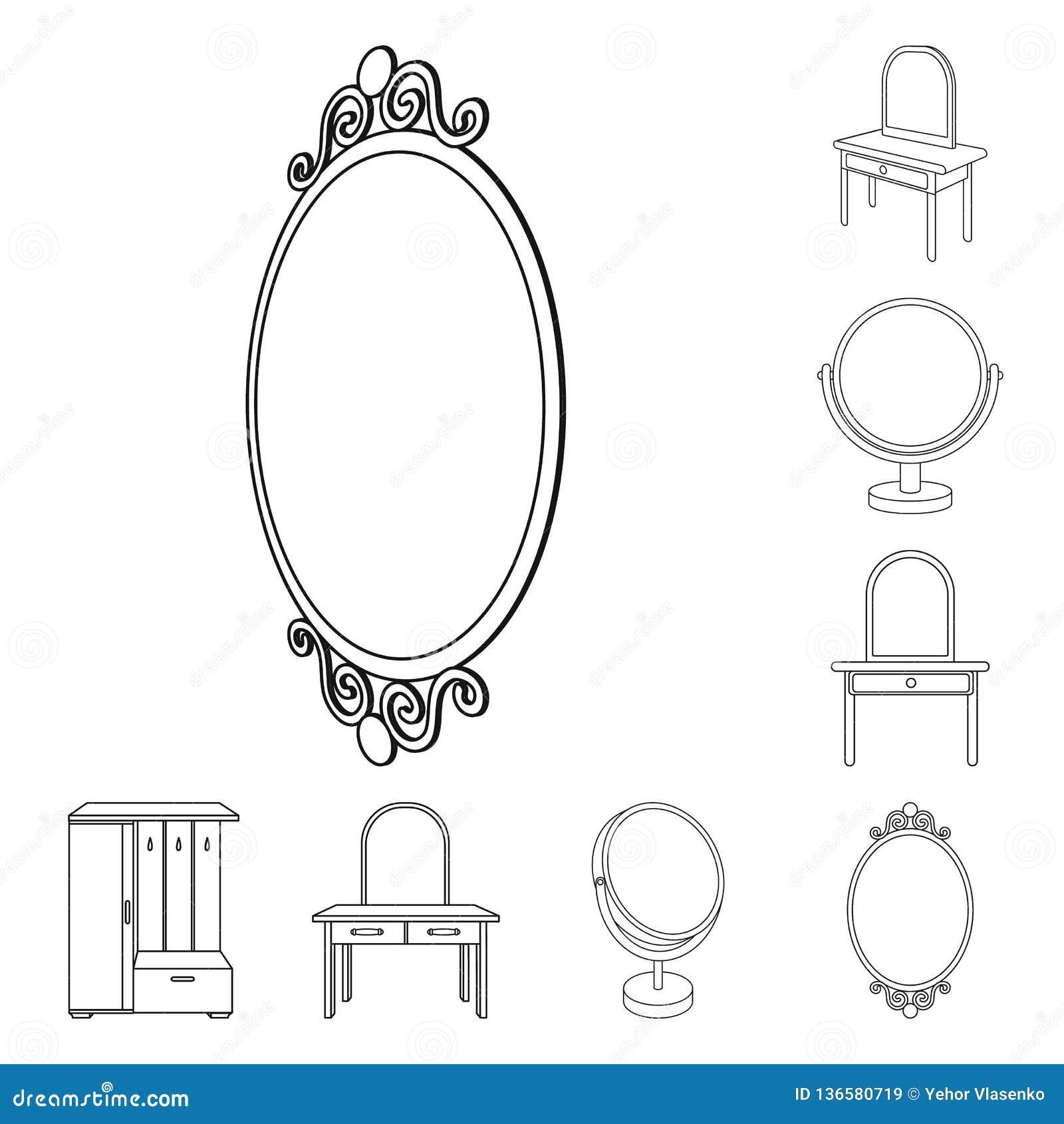 Objeto isolado de e símbolo da aparência Ajuste de e ícone do vetor da reflexão para o estoque