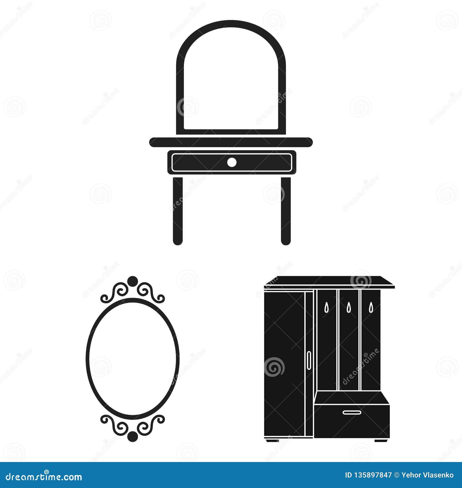 Objeto isolado de e símbolo da aparência Coleção de e ilustração do vetor do estoque da reflexão