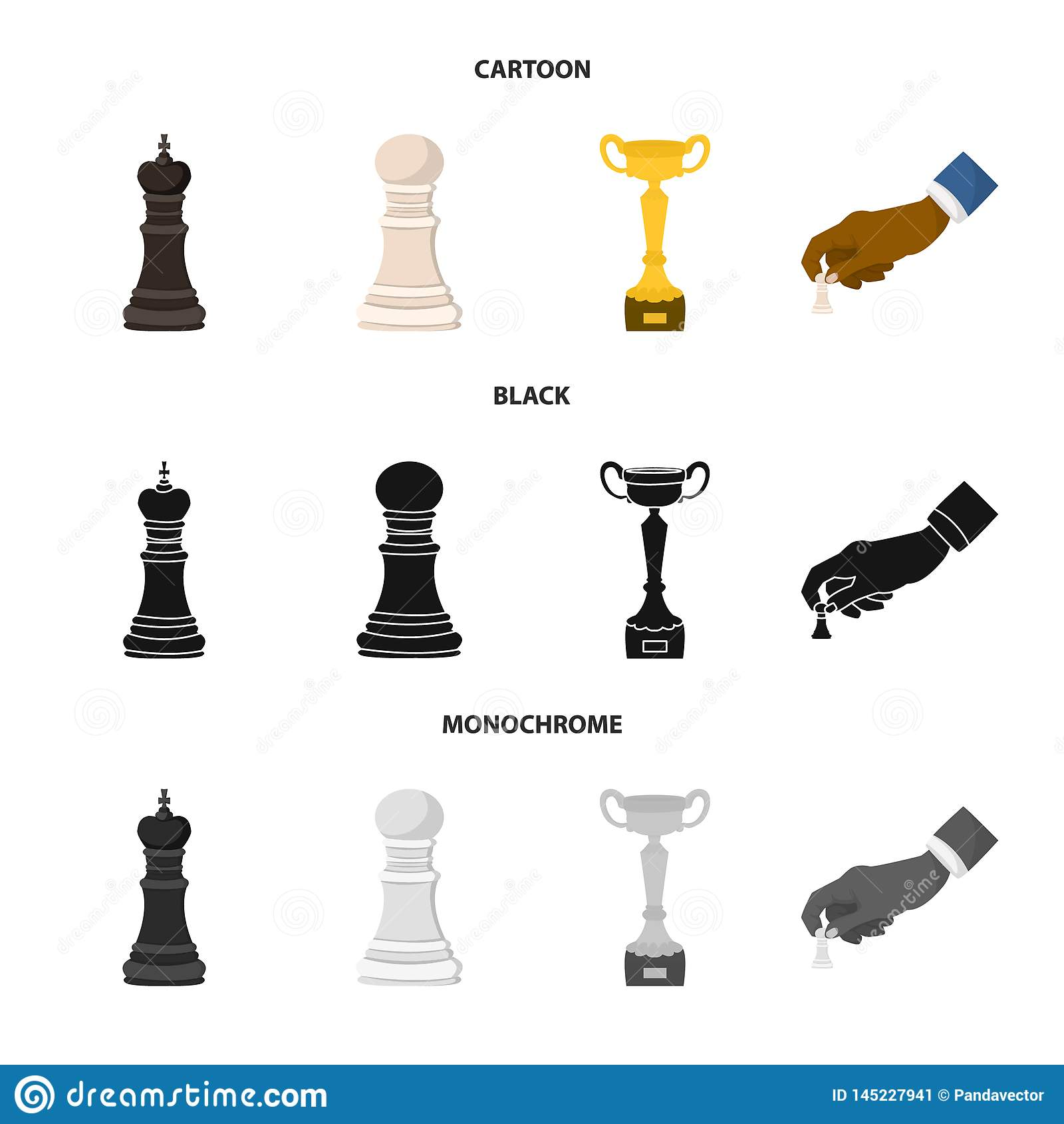 Objeto isolado do checkmate e do ?cone fino Ajuste da ilustra??o do vetor do estoque do checkmate e do alvo