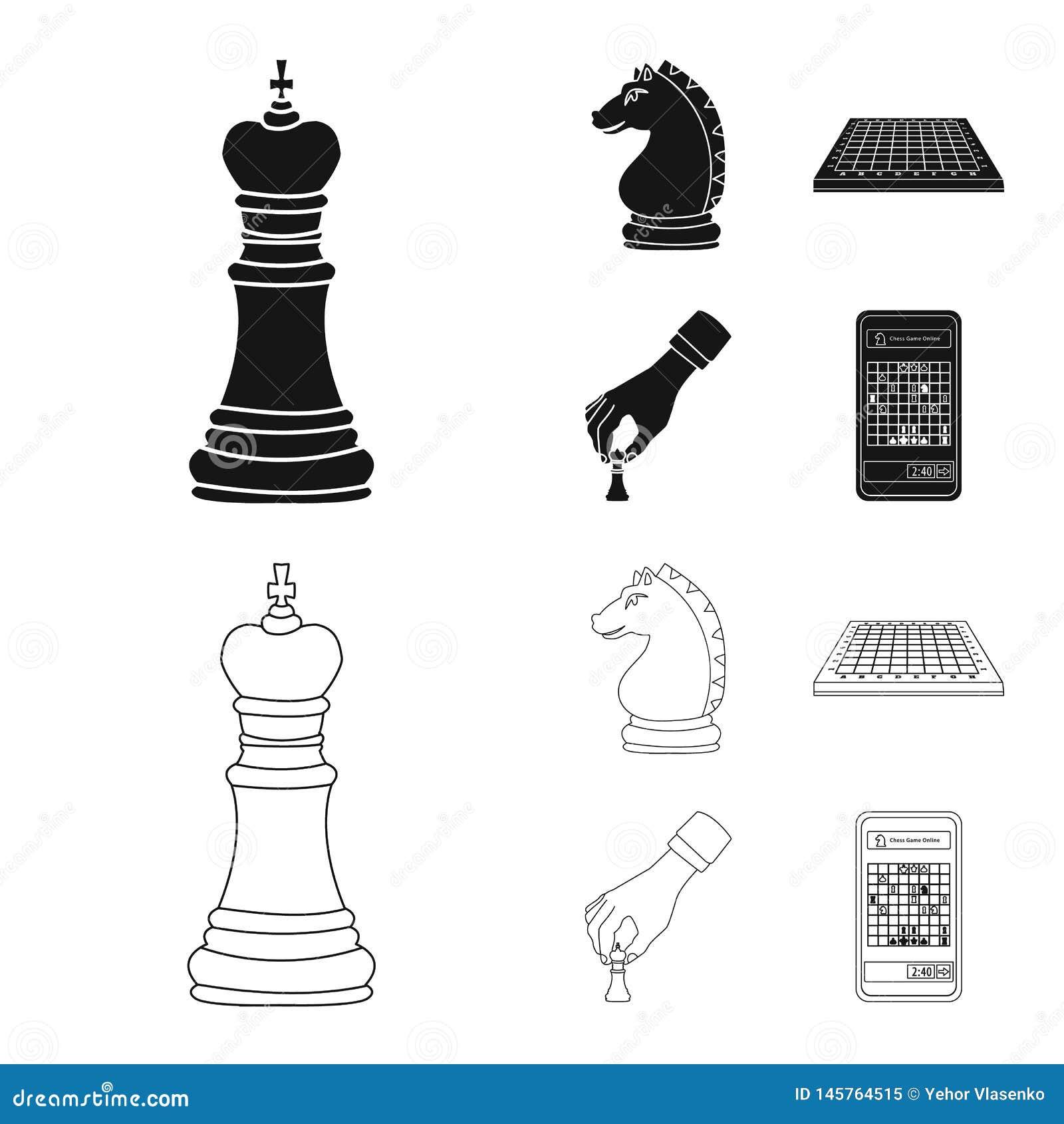 Objeto isolado do checkmate e do ?cone fino Cole??o da ilustra??o do vetor do estoque do checkmate e do alvo