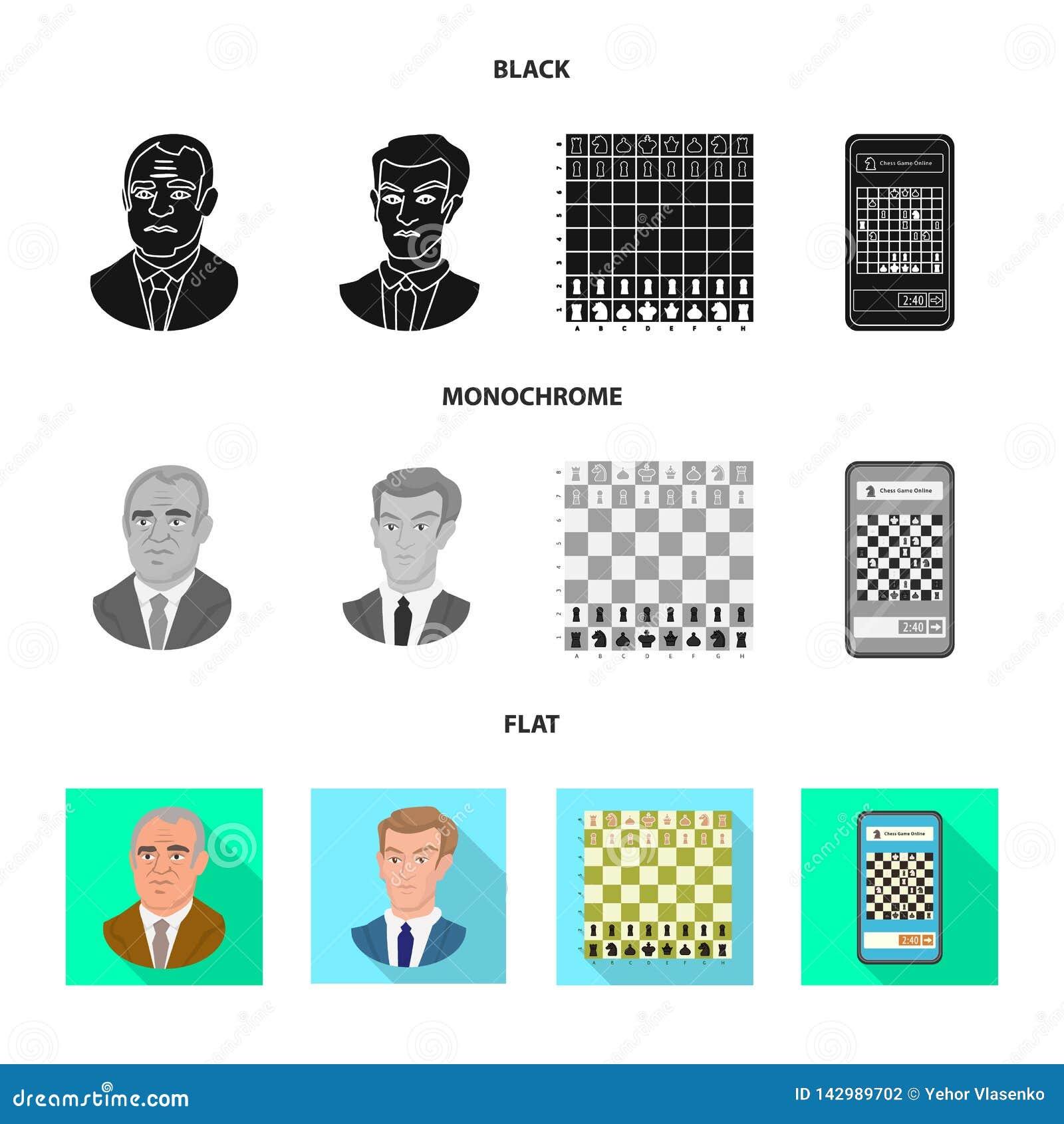 Objeto isolado do checkmate e do logotipo fino Coleção da ilustração do vetor do estoque do checkmate e do alvo