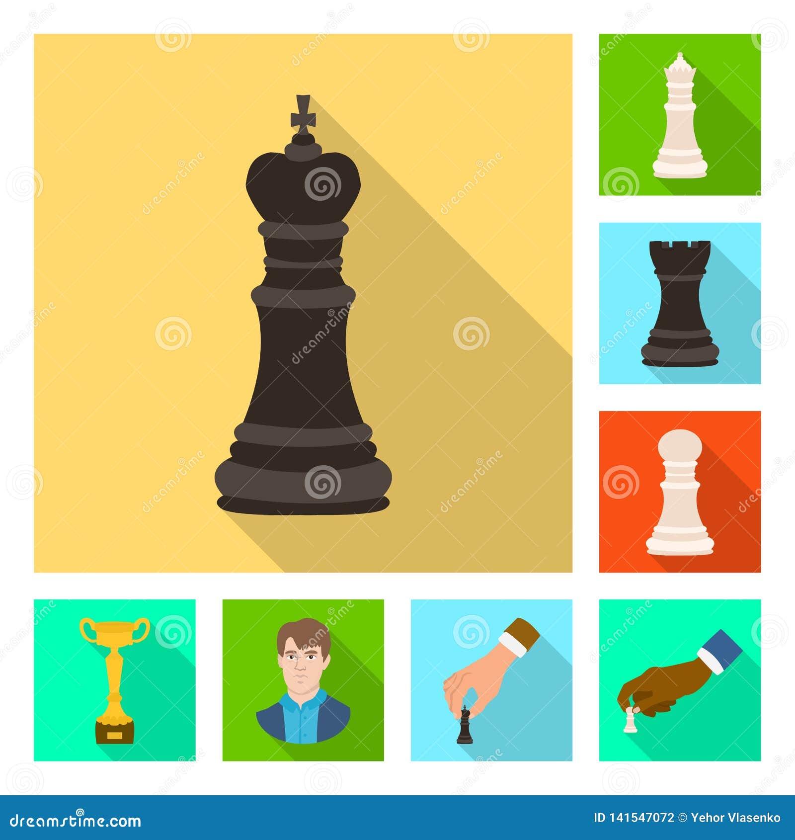 Objeto isolado do checkmate e do logotipo fino Coleção do símbolo de ações do checkmate e do alvo para a Web