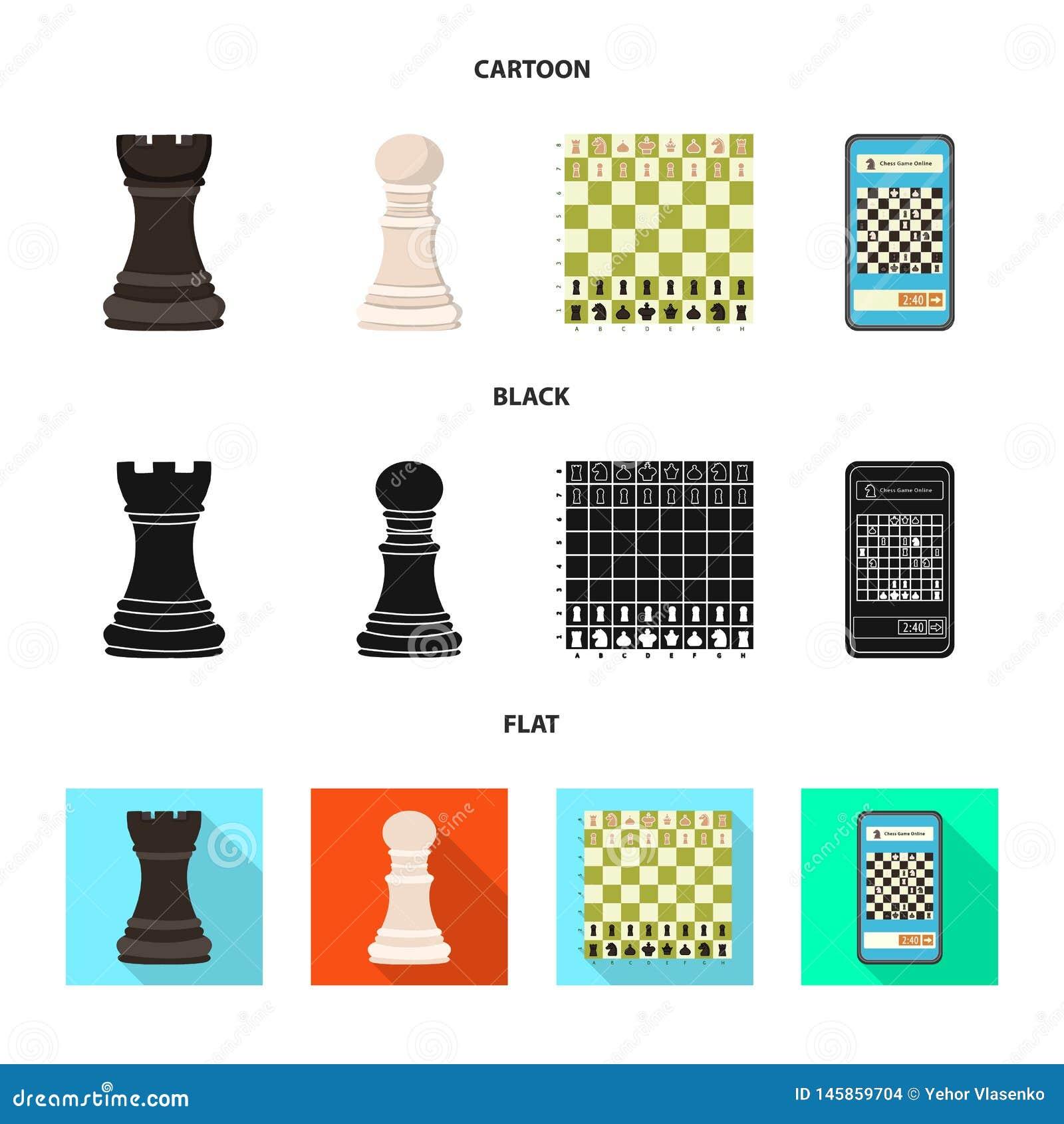 Objeto isolado do checkmate e do s?mbolo fino Cole??o da ilustra??o do vetor do estoque do checkmate e do alvo