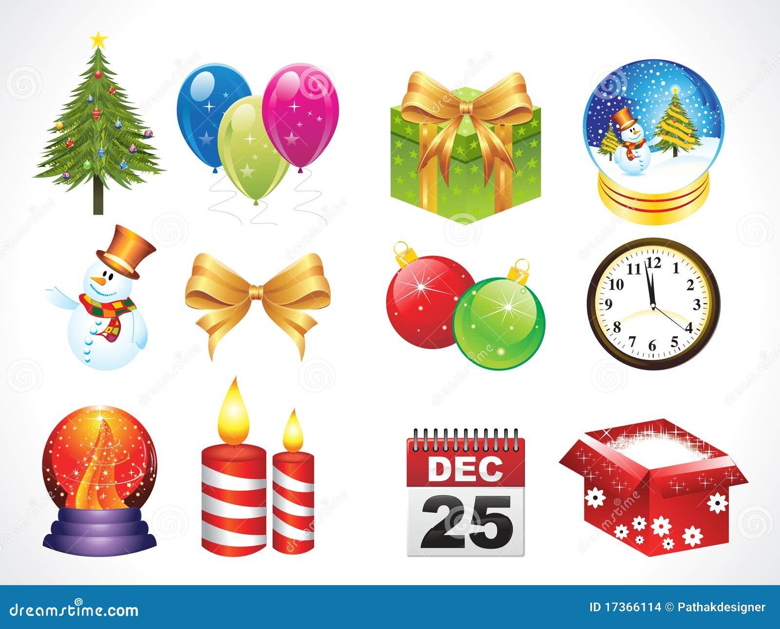 Objetos abstractos de la navidad ilustraci n del vector imagen 17366114 - Objetos de navidad ...
